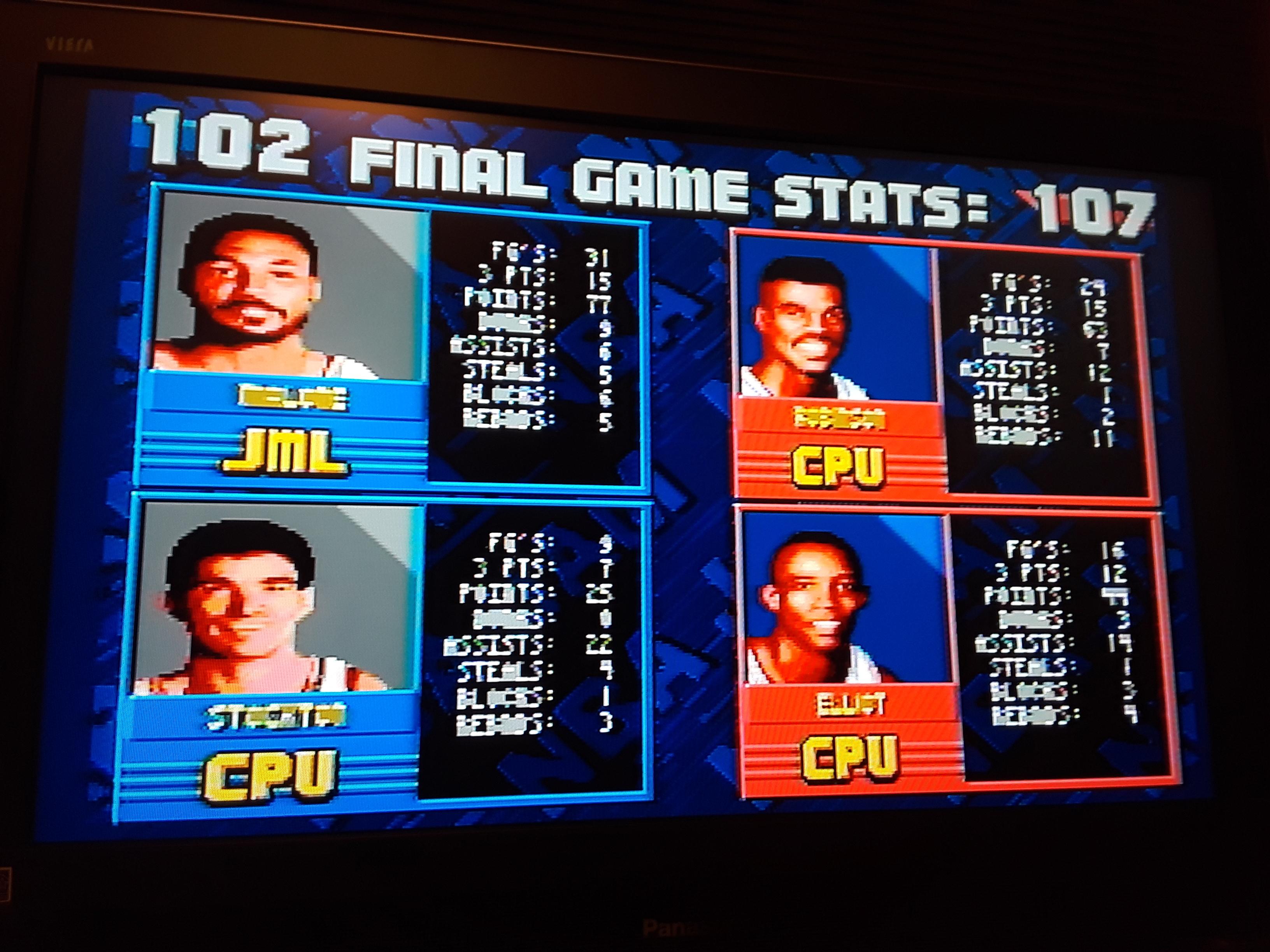 NBA Jam [Extra Hard] 102 points