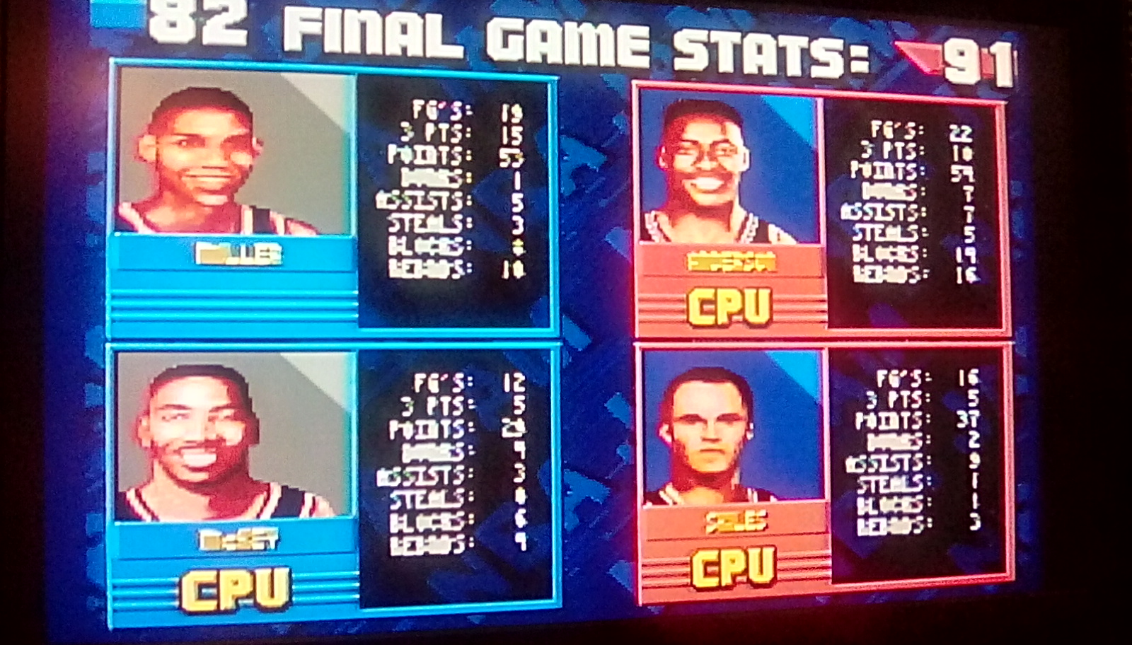 NBA Jam [Hard] 82 points