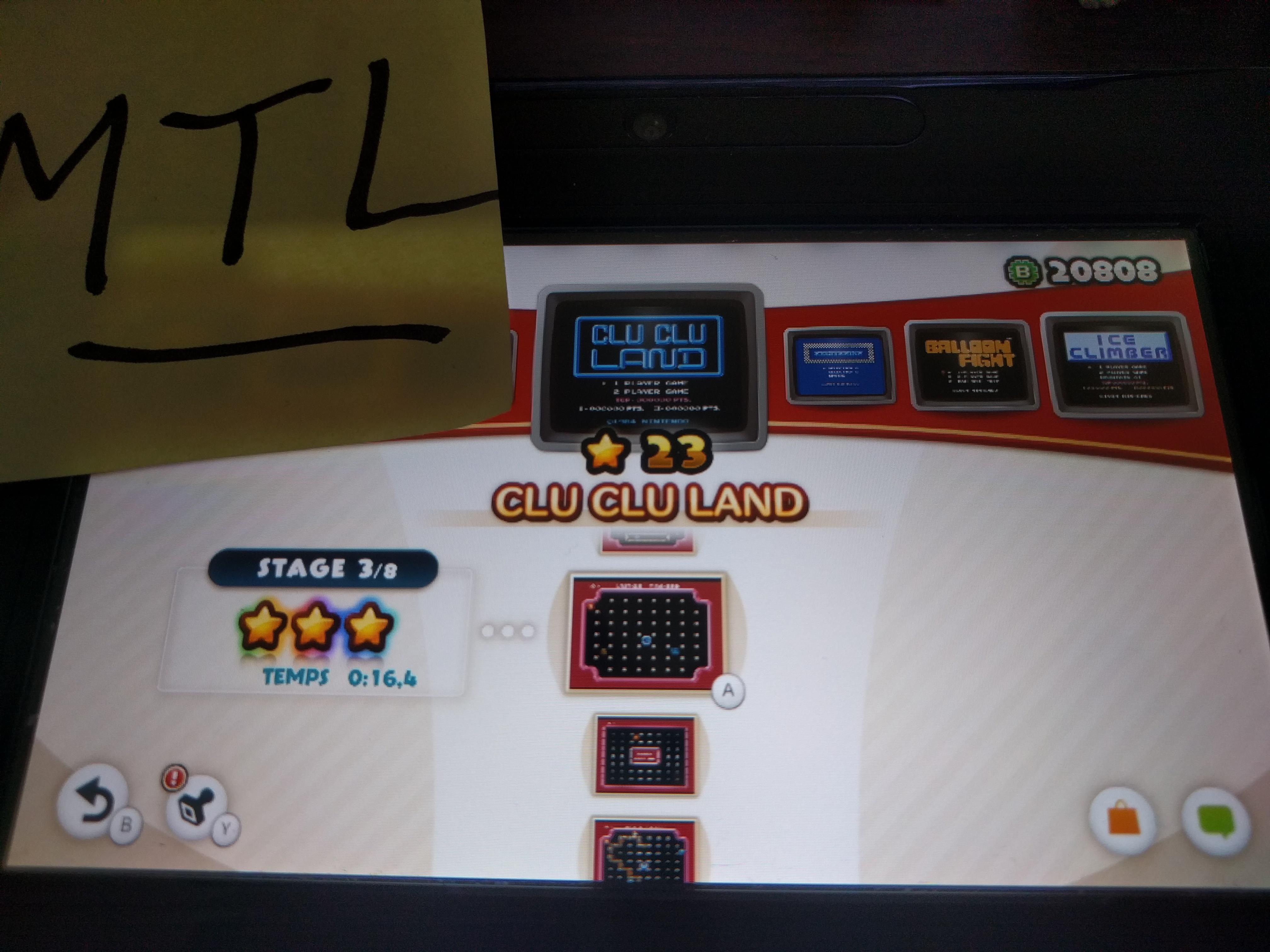 Mantalow: NES Remix: Clu Clu Land: Stage 3 (Wii U) 0:00:16.4 points on 2016-06-08 17:07:18