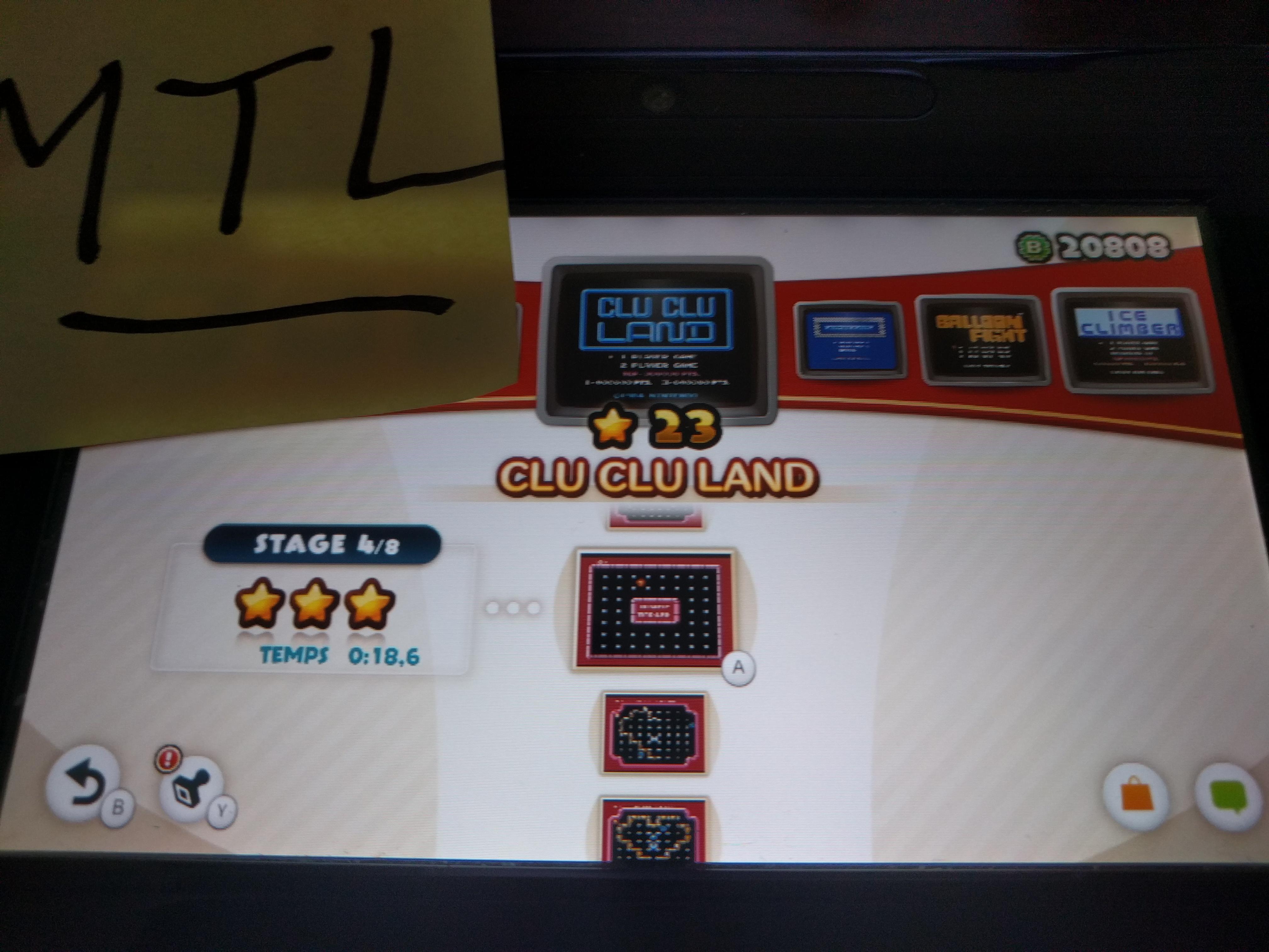 Mantalow: NES Remix: Clu Clu Land: Stage 4 (Wii U) 0:00:18.6 points on 2016-06-08 17:07:27