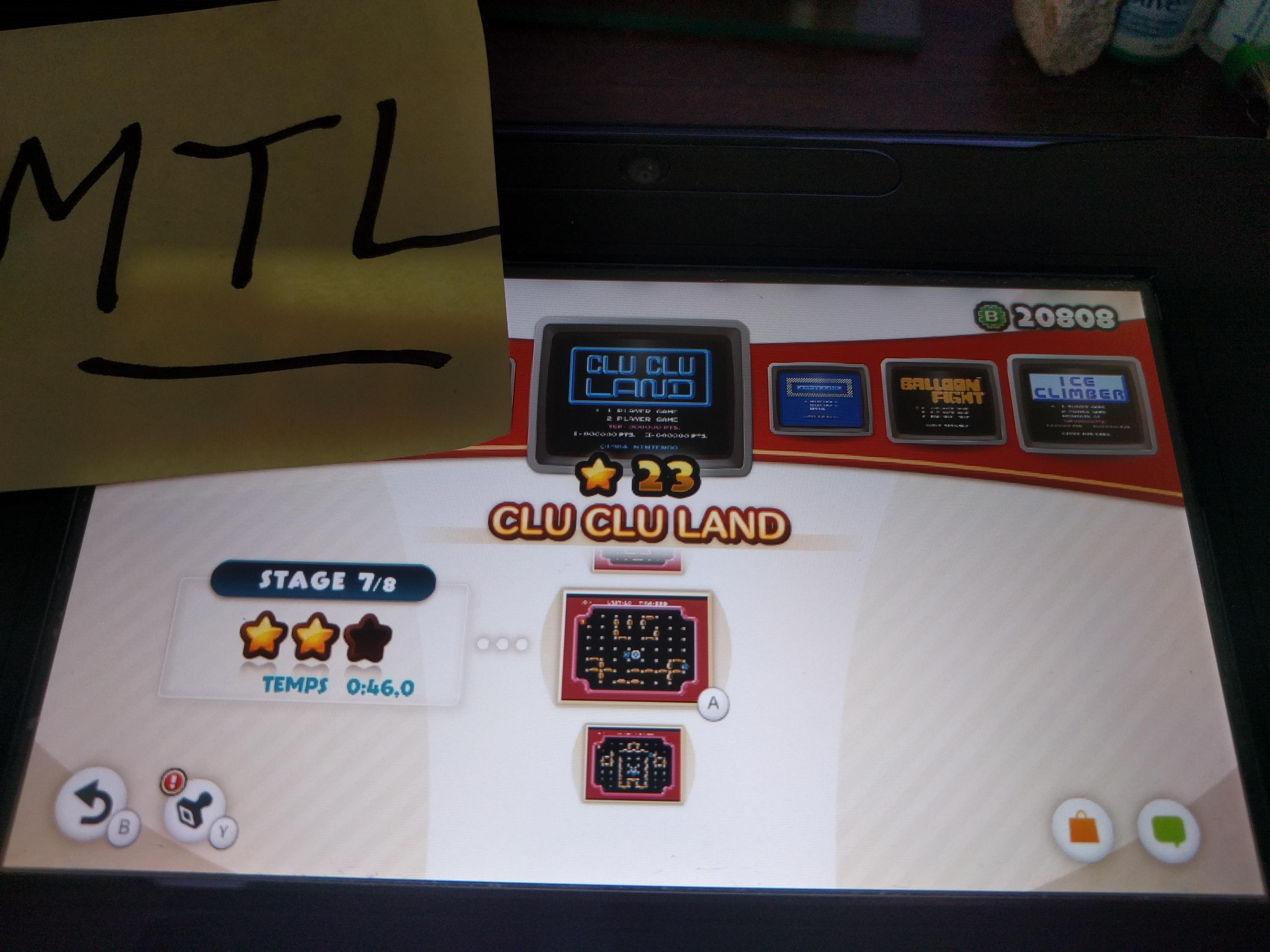 Mantalow: NES Remix: Clu Clu Land: Stage 7 (Wii U) 0:00:46 points on 2016-06-09 02:02:55