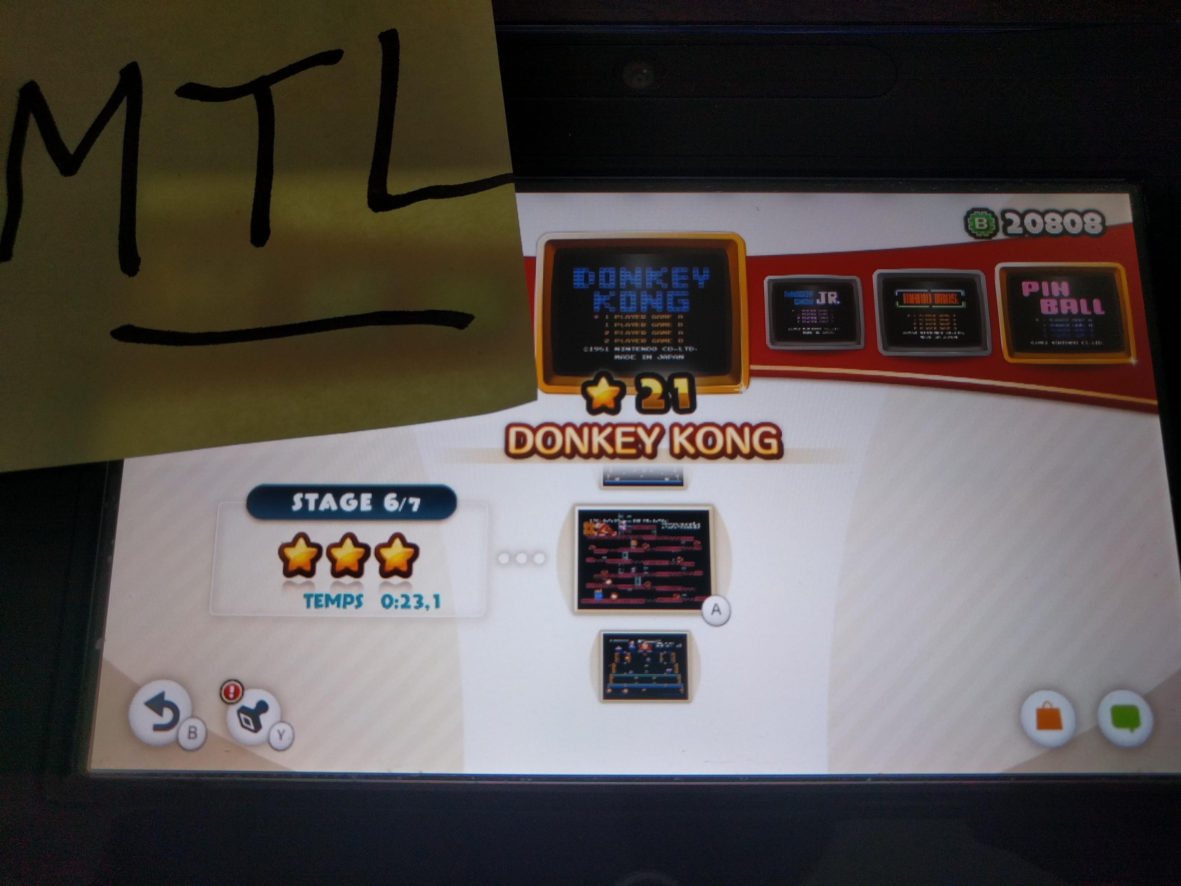 Mantalow: NES Remix: Donkey Kong: Stage 6 (Wii U) 0:00:23.1 points on 2016-06-06 16:35:52