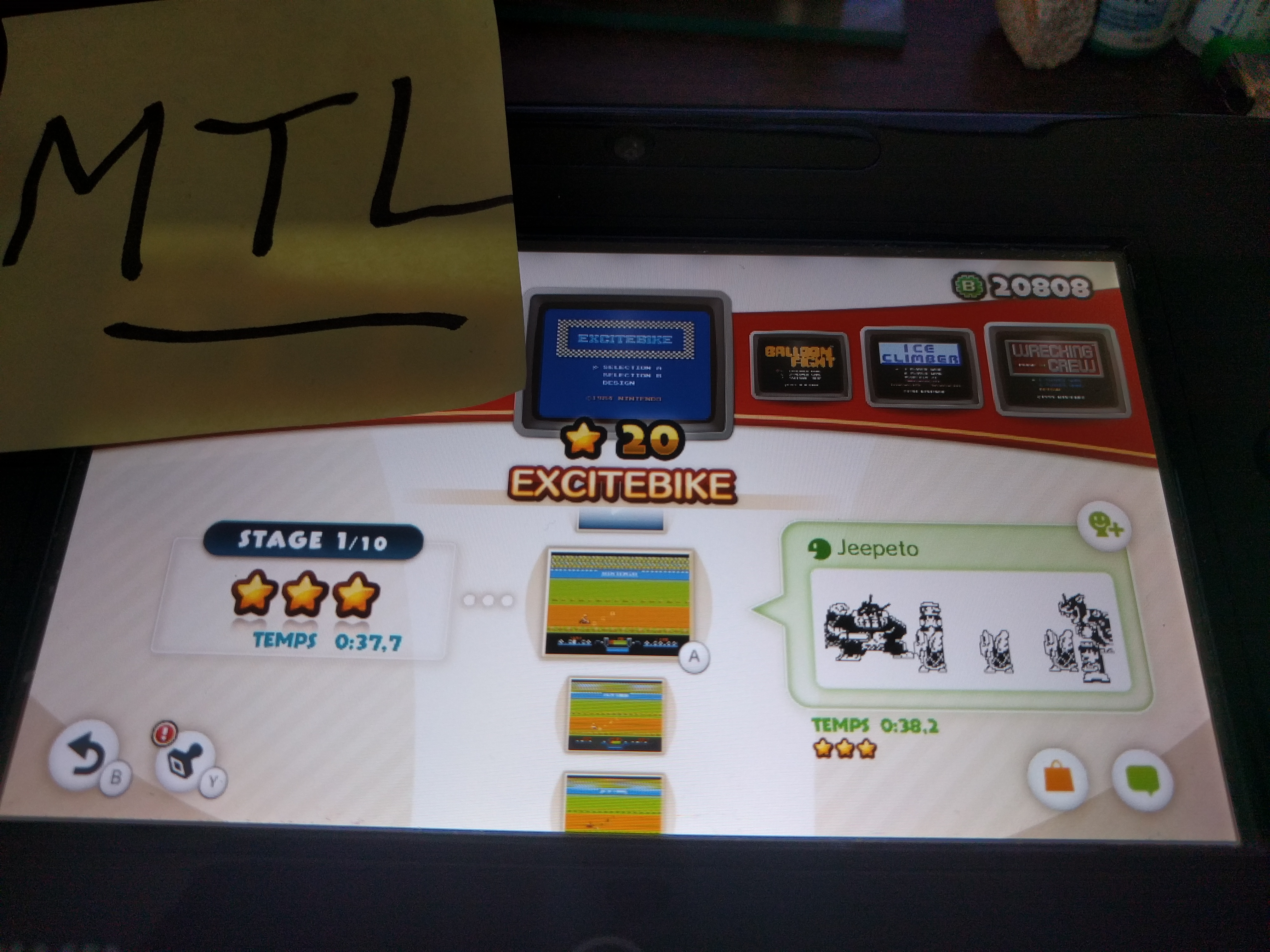 Mantalow: NES Remix: Excitebike: Stage 1 (Wii U) 0:00:37.7 points on 2016-06-09 02:04:48