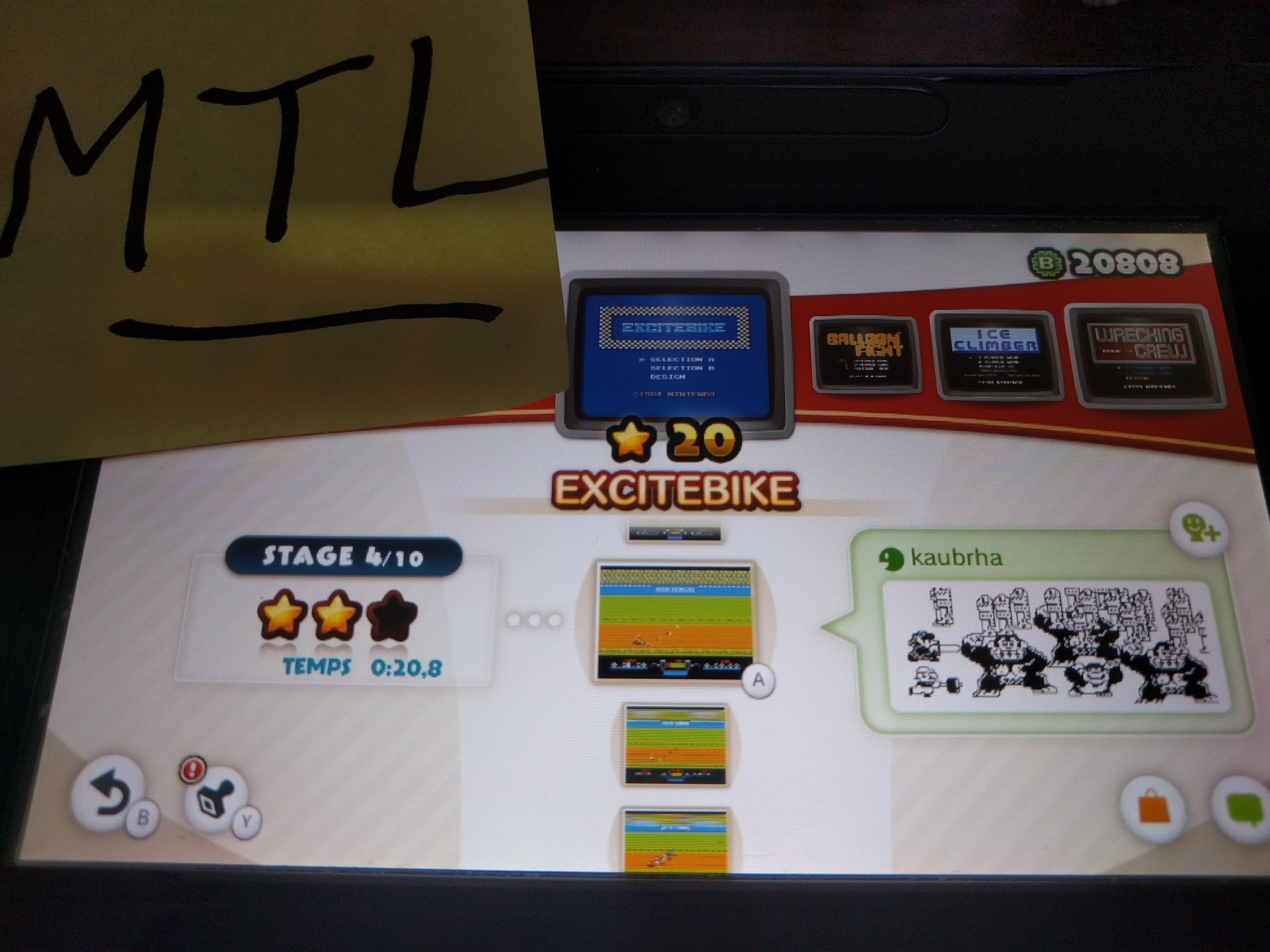 Mantalow: NES Remix: Excitebike: Stage 4 (Wii U) 0:00:20.8 points on 2016-06-09 02:07:06