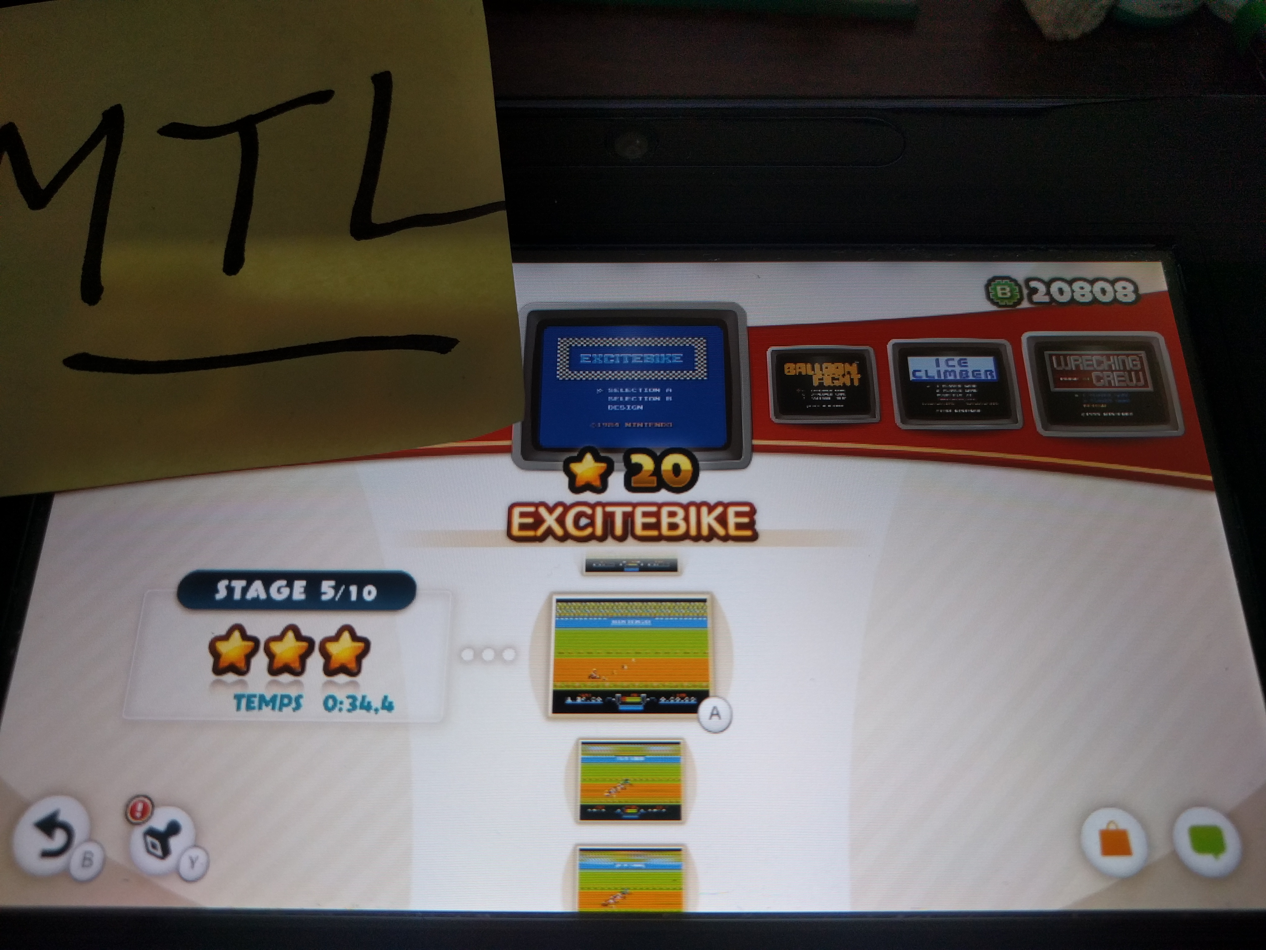 Mantalow: NES Remix: Excitebike: Stage 5 (Wii U) 0:00:34.4 points on 2016-06-09 02:07:36