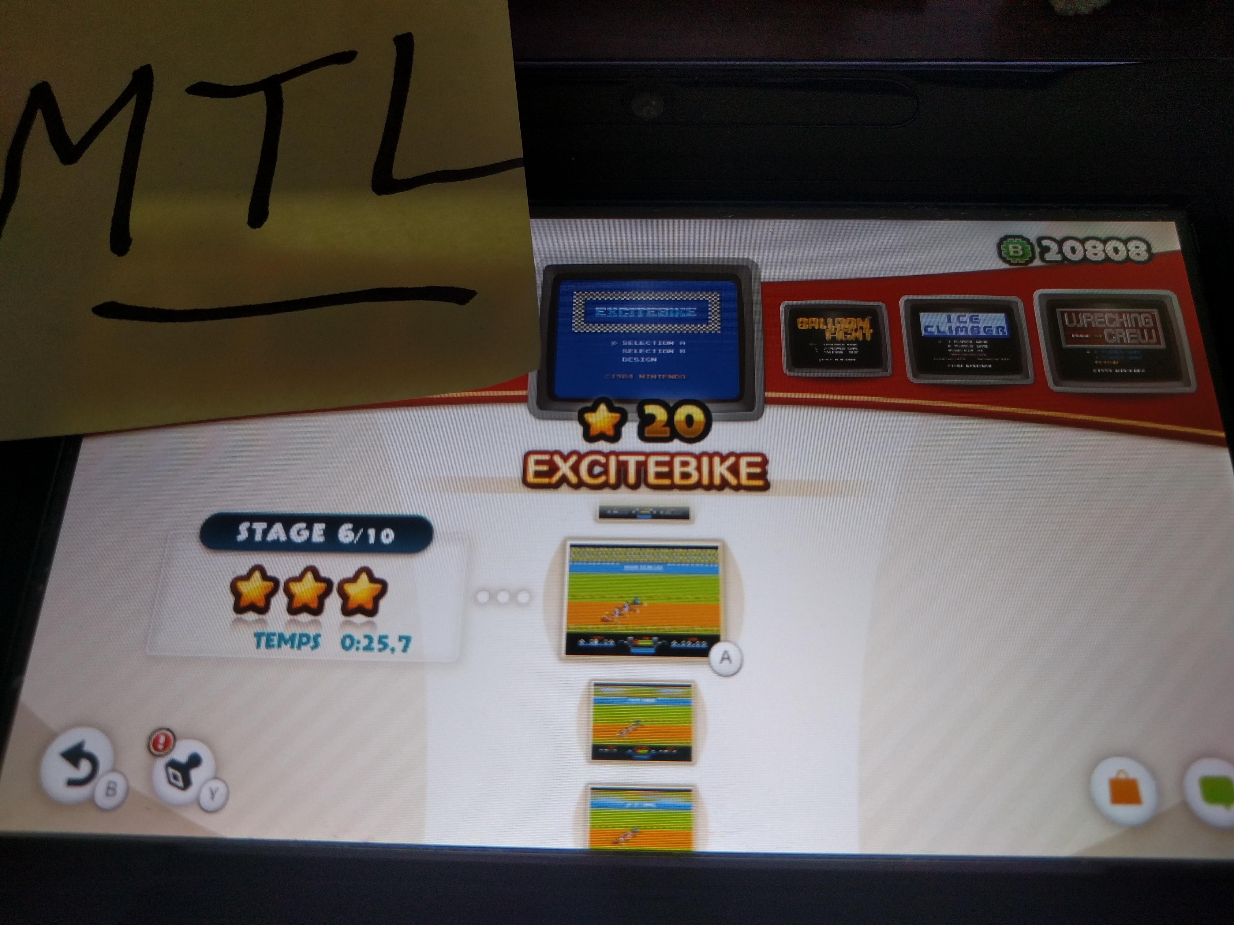 Mantalow: NES Remix: Excitebike: Stage 6 (Wii U) 0:00:25.7 points on 2016-06-09 02:08:11