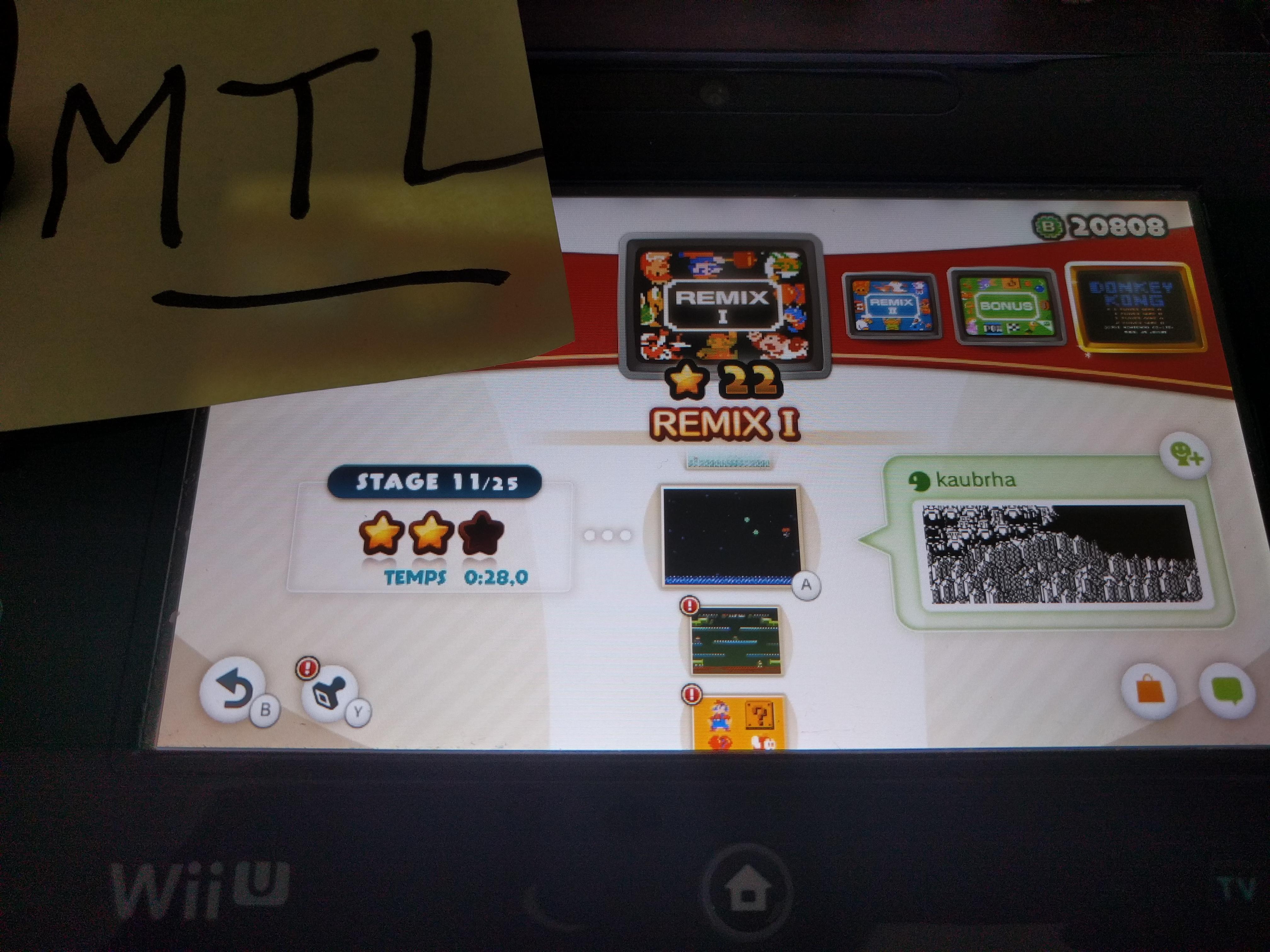 Mantalow: NES Remix: Remix I: Stage 11 (Wii U) 0:00:28 points on 2016-06-17 10:51:34