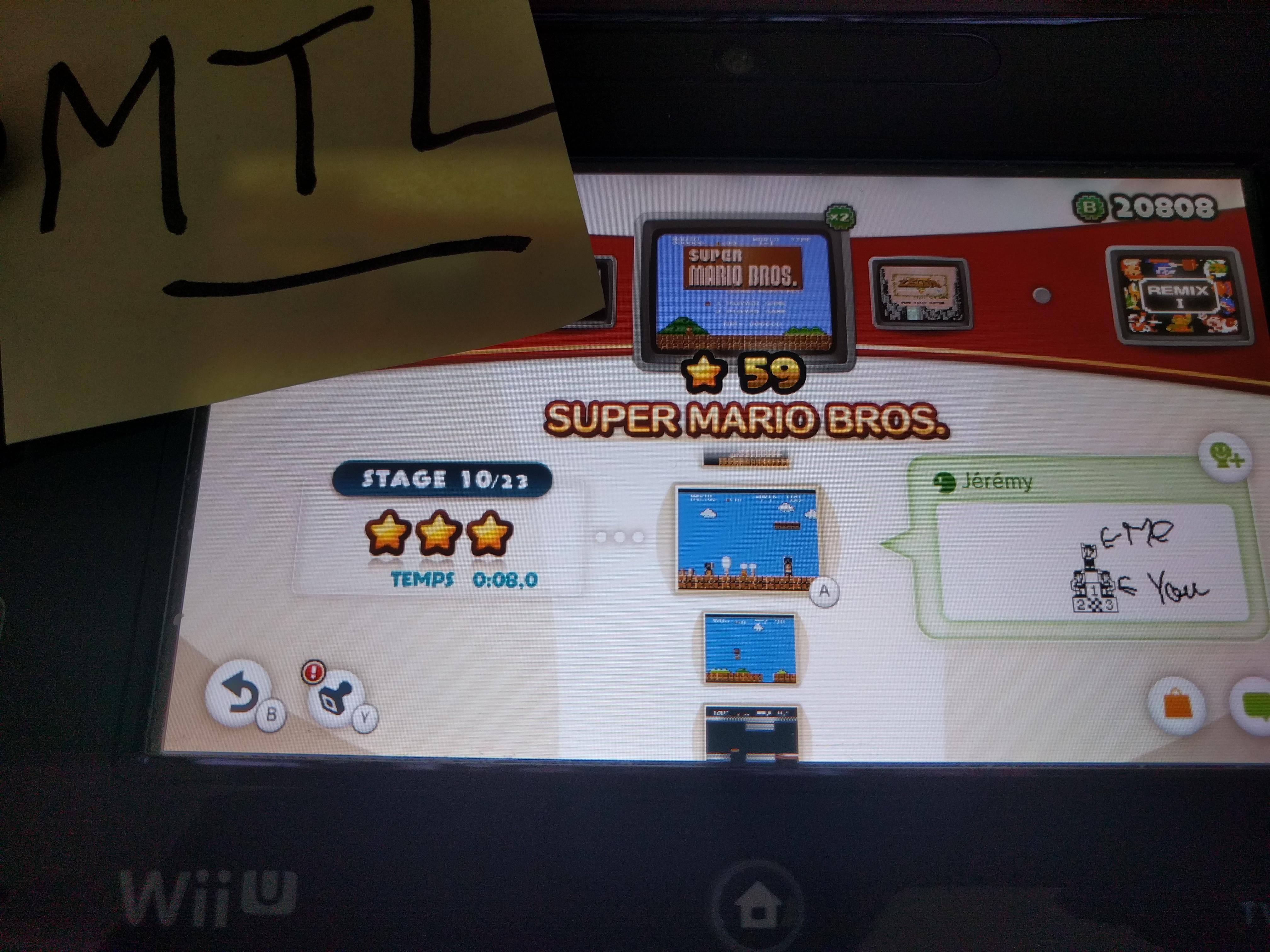 Mantalow: NES Remix: Super Mario Bros: Stage 10 (Wii U) 0:00:08 points on 2016-06-10 05:18:57
