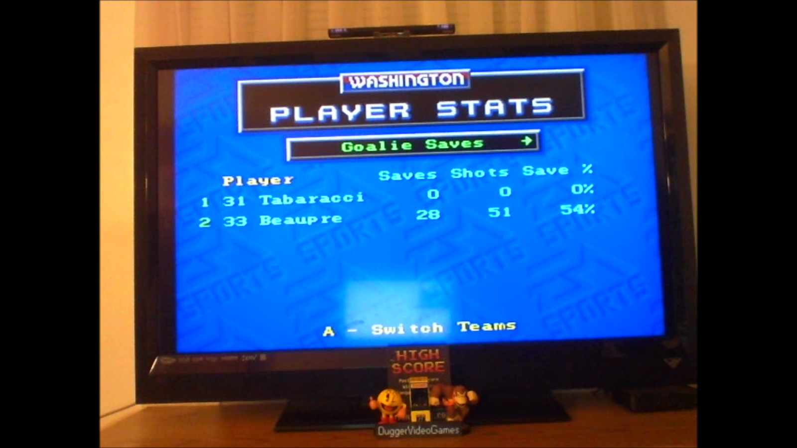 DuggerVideoGames: NHL 94: Regular Season match [Point Difference] (Sega Genesis / MegaDrive Emulated) 22 points on 2017-02-19 21:07:04