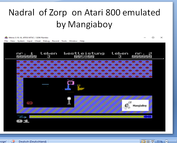 MangiaBoy: Nadral [Level: Anfänger] (Atari 400/800/XL/XE Emulated) 5,800 points on 2018-12-26 06:56:11