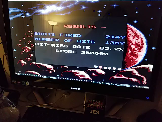 JES: Namco Gallery Vol.1: Galaga (Game Boy Emulated) 250,090 points on 2018-11-21 23:15:09
