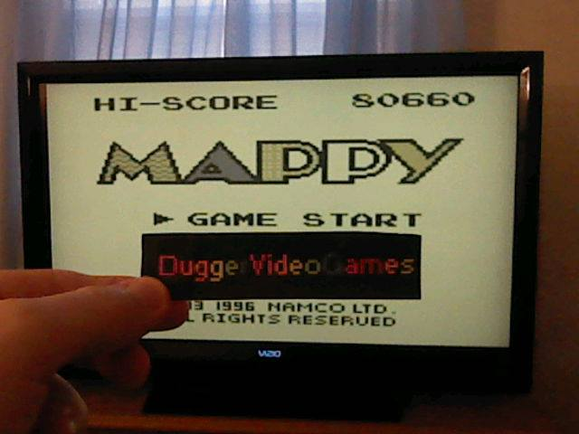 DuggerVideoGames: Namco Gallery Vol.1: Mappy (Game Boy Emulated) 80,660 points on 2017-12-04 06:55:02