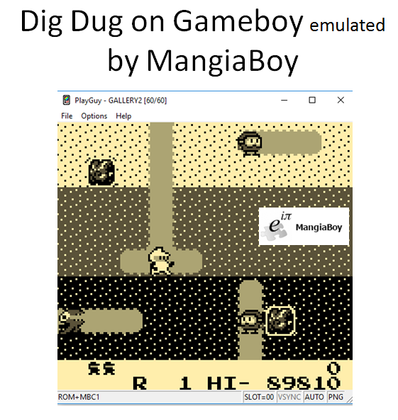 MangiaBoy: Namco Gallery Vol.2: Dig Dug (Game Boy Emulated) 89,810 points on 2017-01-14 11:54:34