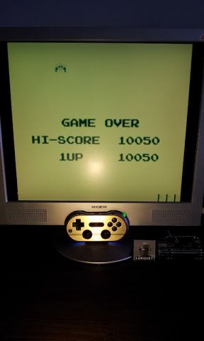 Larquey: Namco Gallery Vol.2: Galaxian (Game Boy Emulated) 10,050 points on 2017-01-14 07:41:11