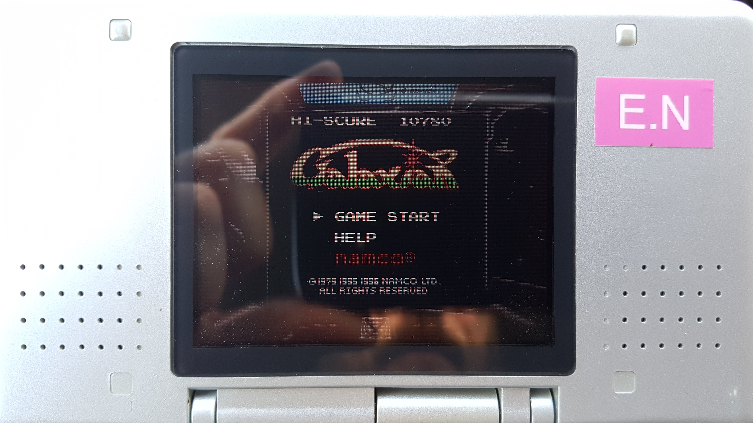 EddieNiceguy: Namco Gallery Vol.2: Galaxian (Game Boy Emulated) 10,780 points on 2018-11-30 05:34:43