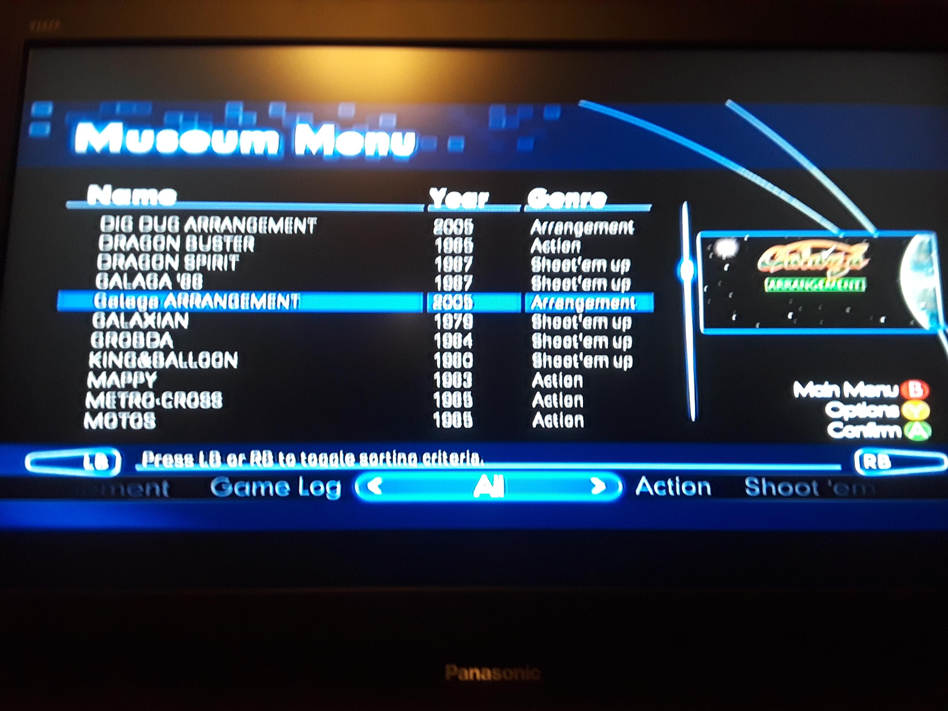 Namco Muesum Virtual Arcade: Galaga Arrangement 70,350 points