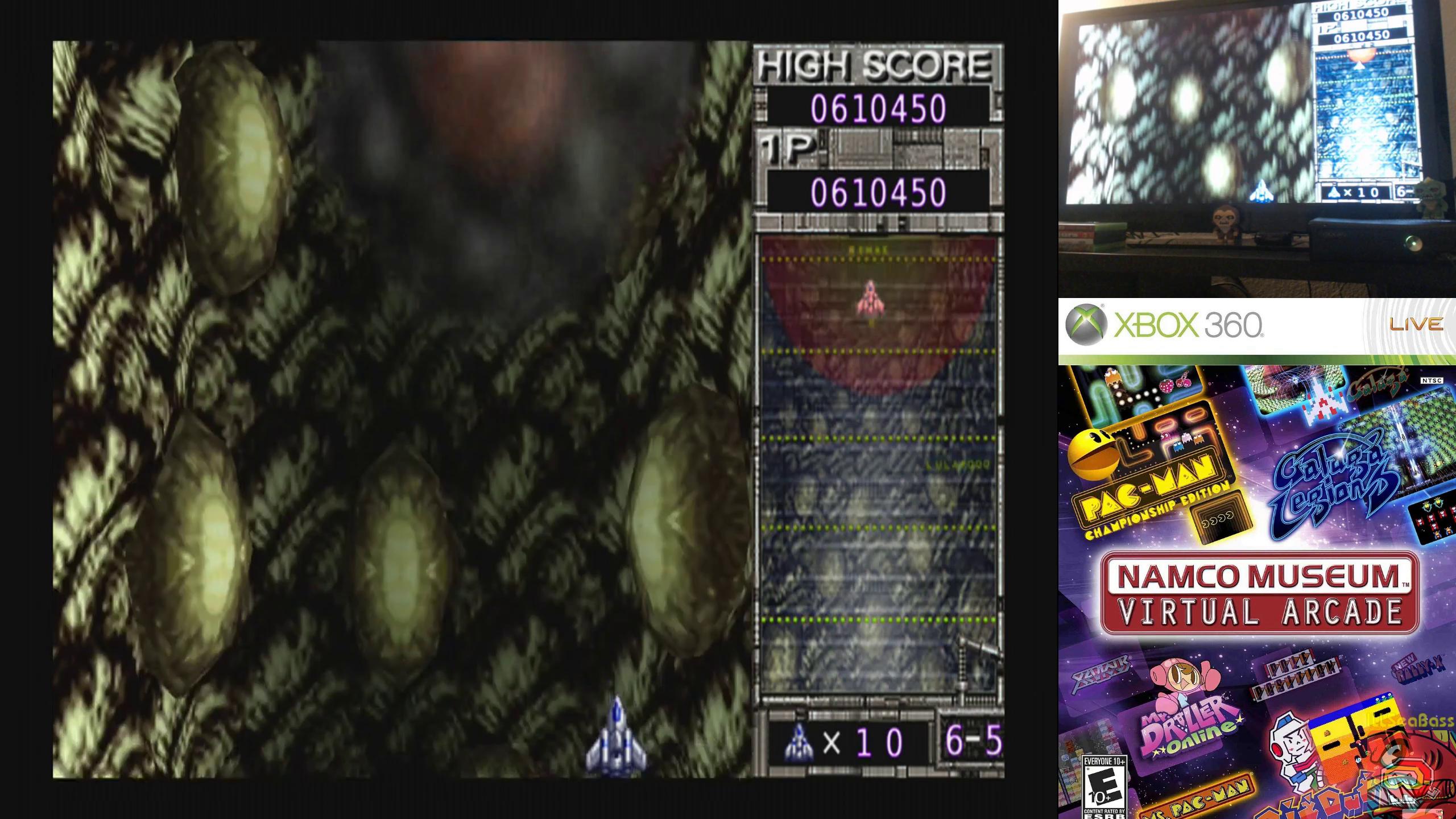 ILLSeaBass: Namco Muesum Virtual Arcade: Galaga Arrangement (Xbox 360) 610,450 points on 2019-10-03 22:09:57