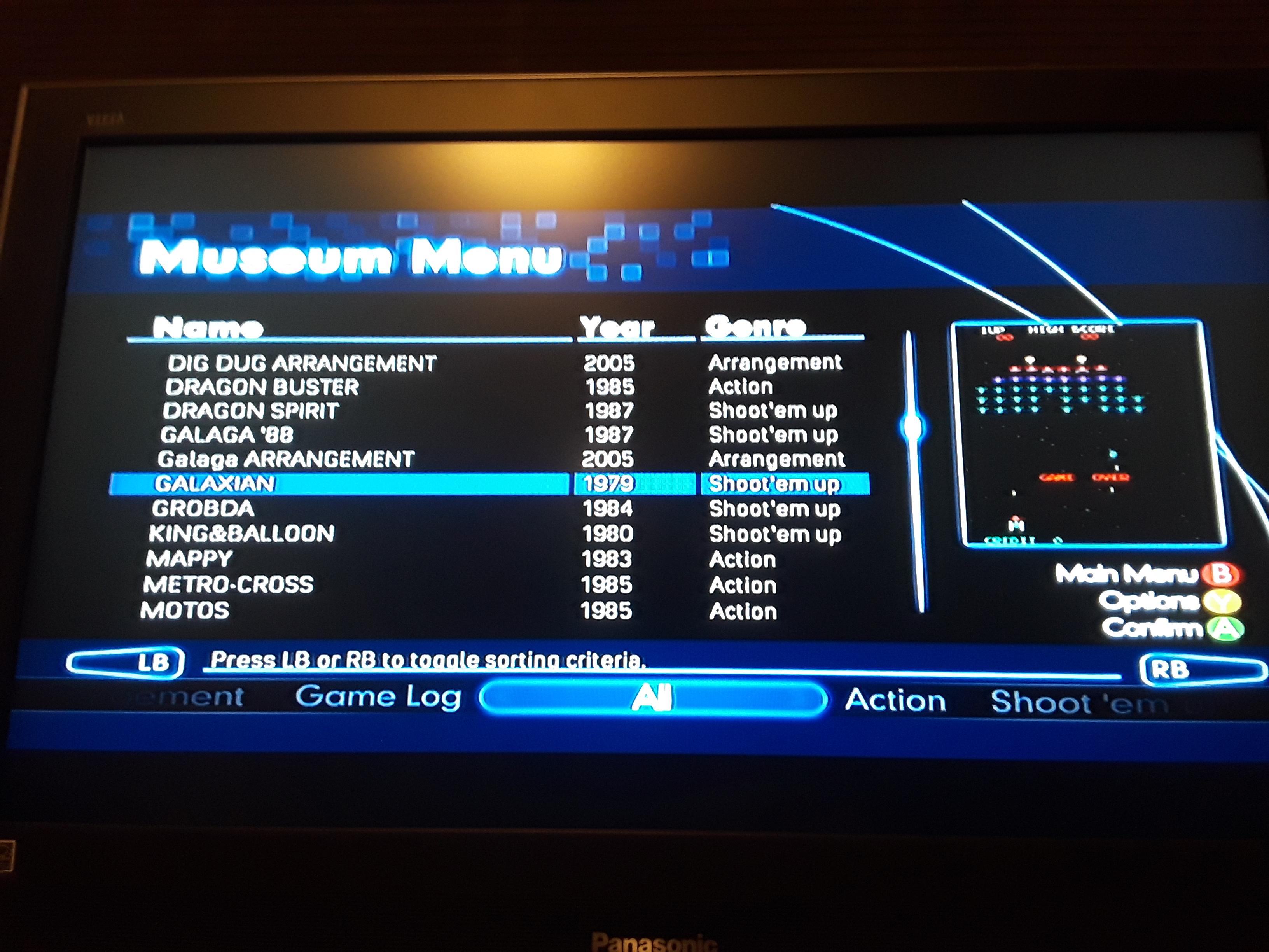 JML101582: Namco Muesum Virtual Arcade: Galaxian (Xbox 360) 4,580 points on 2018-11-17 22:31:04