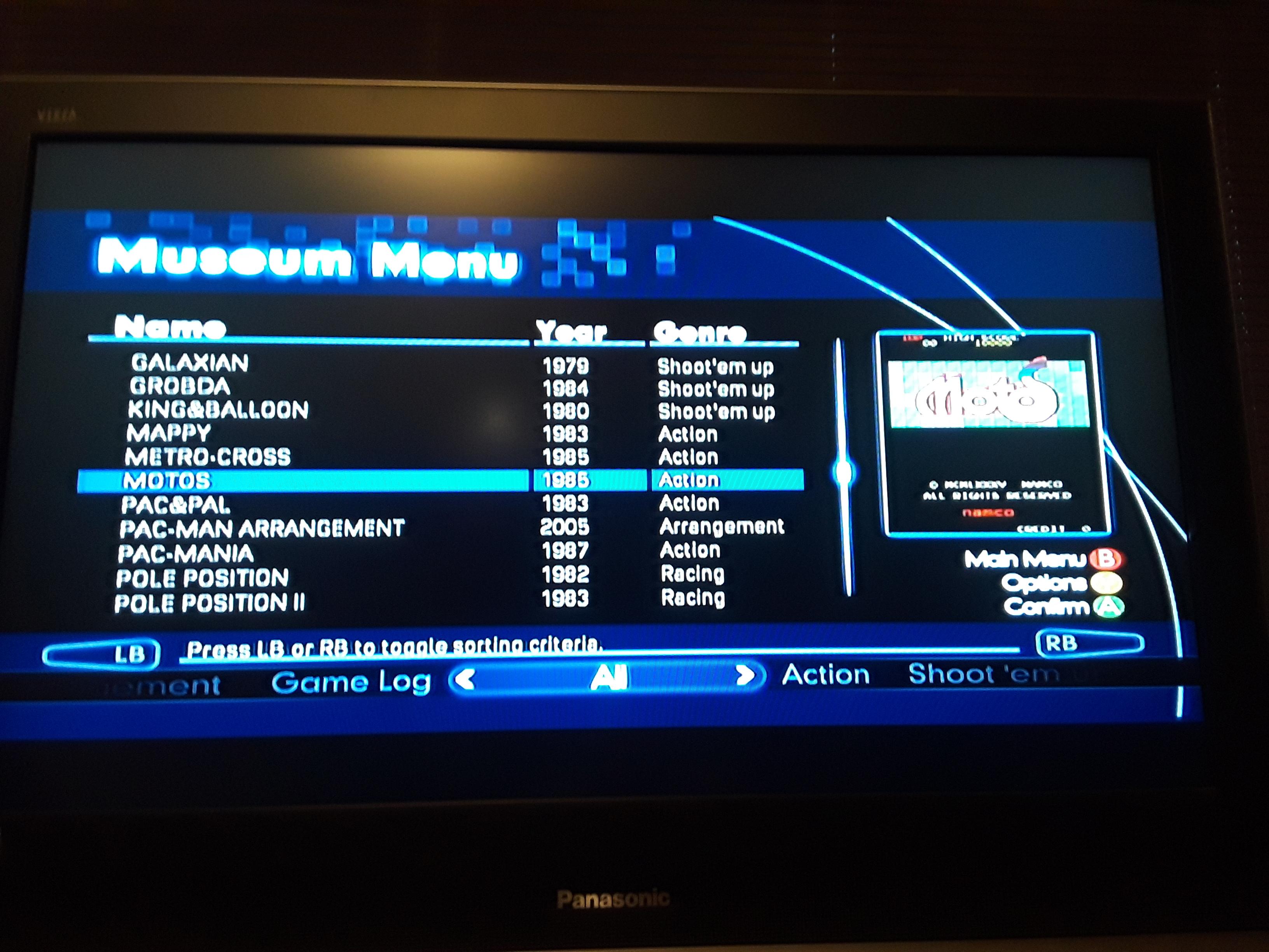 Namco Muesum Virtual Arcade: Motos 2,300 points
