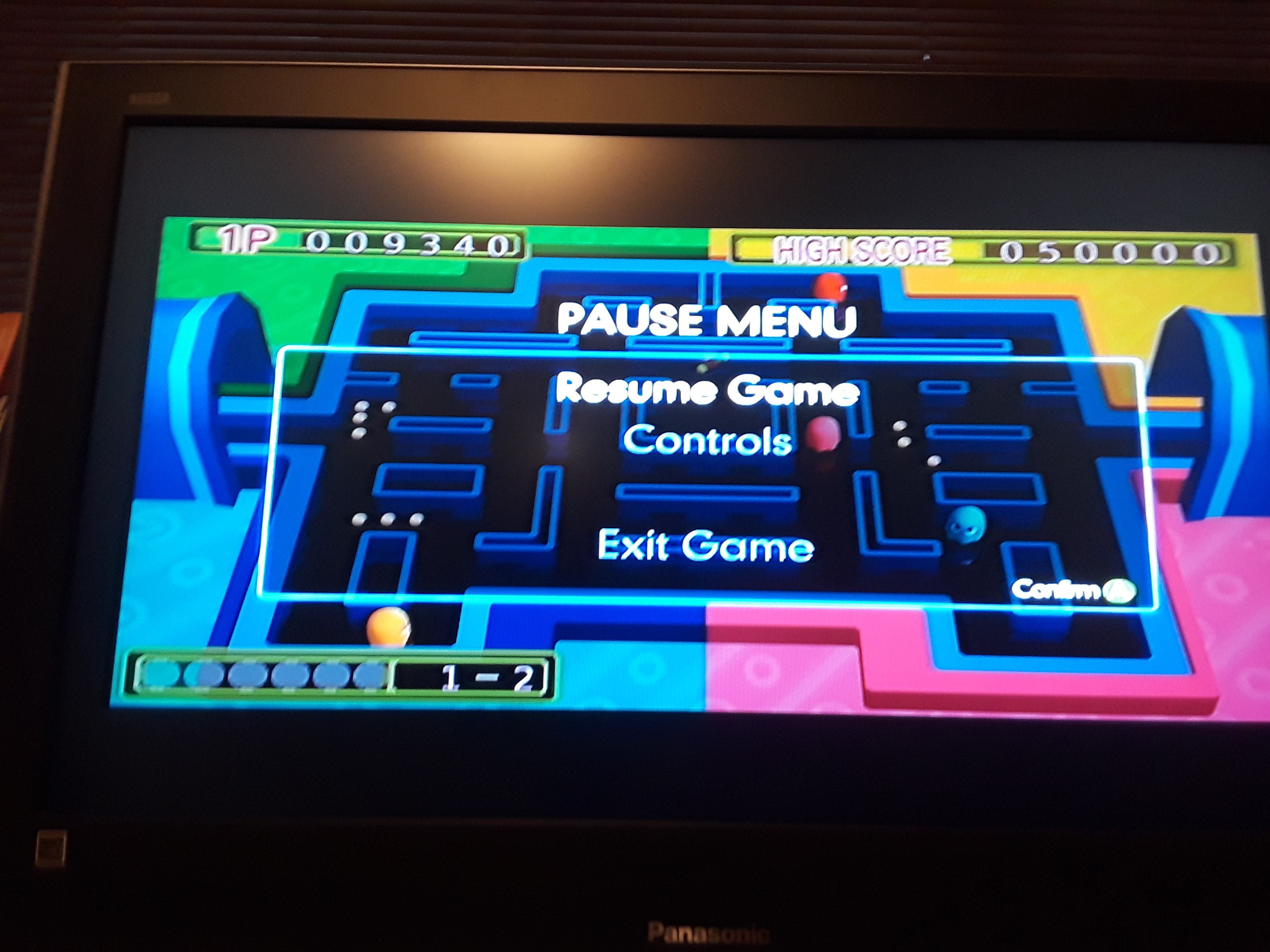 Namco Muesum Virtual Arcade: Pac-Man Arrangement 9,340 points