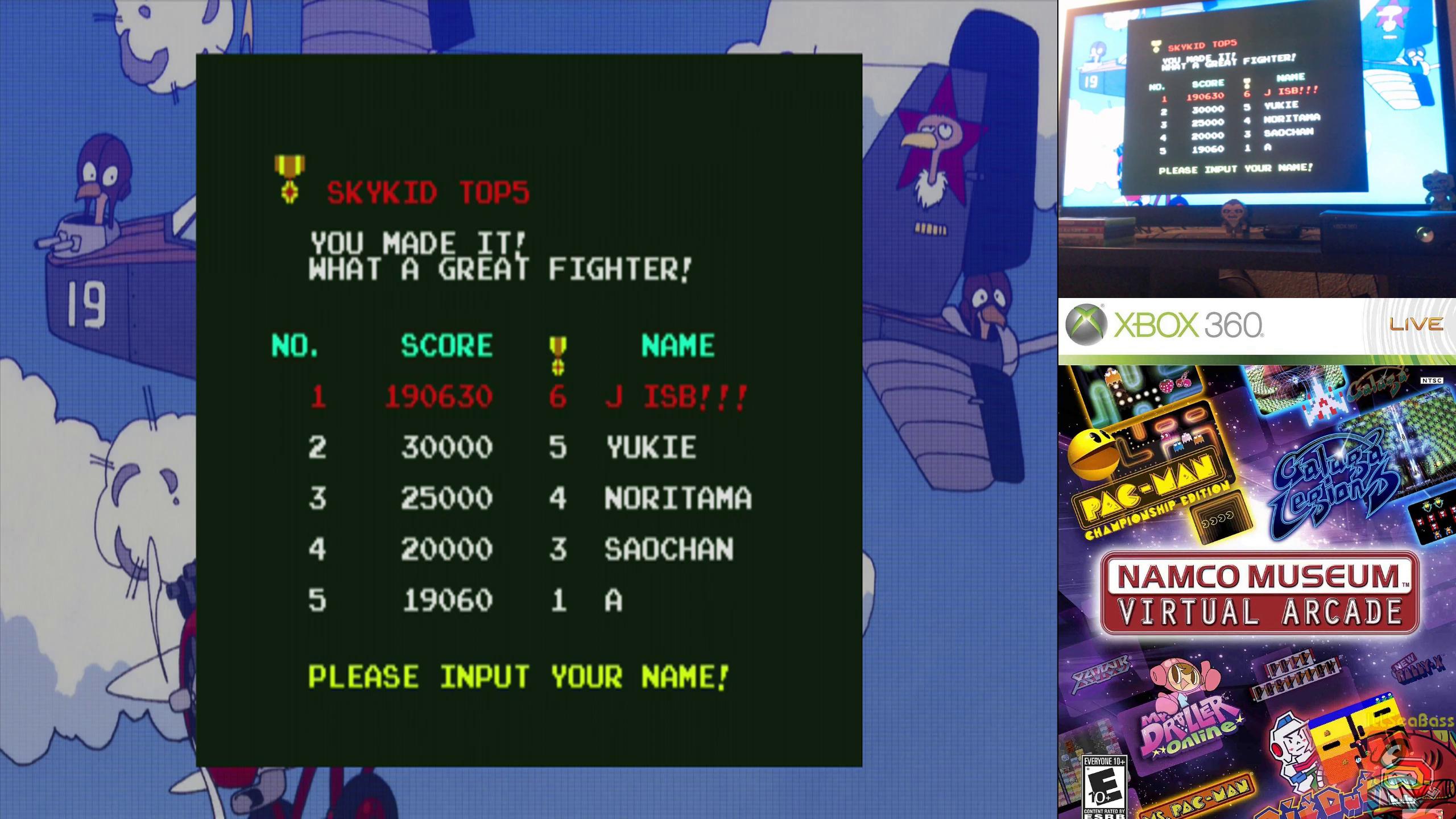 ILLSeaBass: Namco Muesum Virtual Arcade: Sky Kid Deluxe (Xbox 360) 190,630 points on 2019-10-10 12:43:55