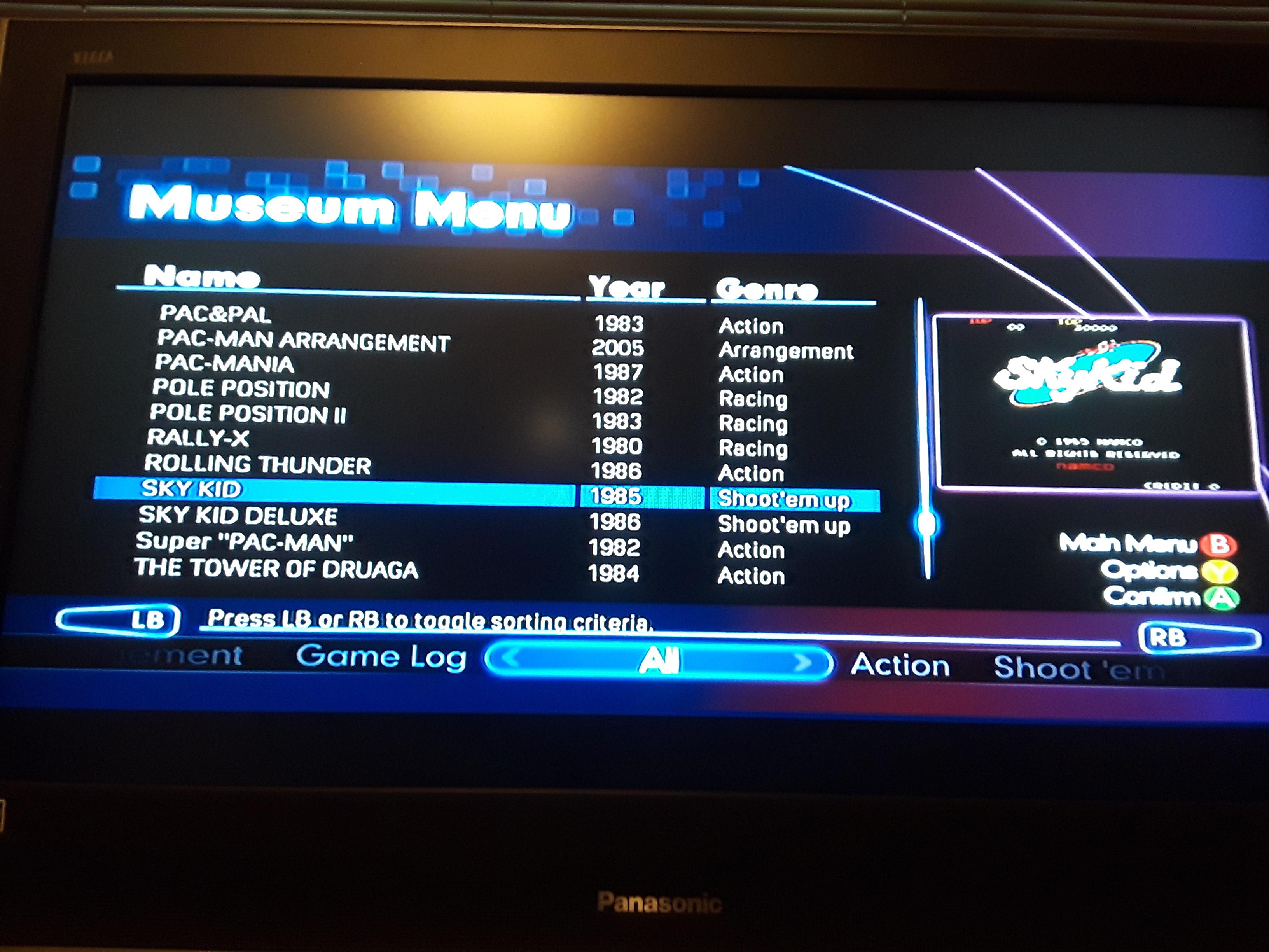 JML101582: Namco Muesum Virtual Arcade: Sky Kid (Xbox 360) 14,880 points on 2018-11-16 17:40:30