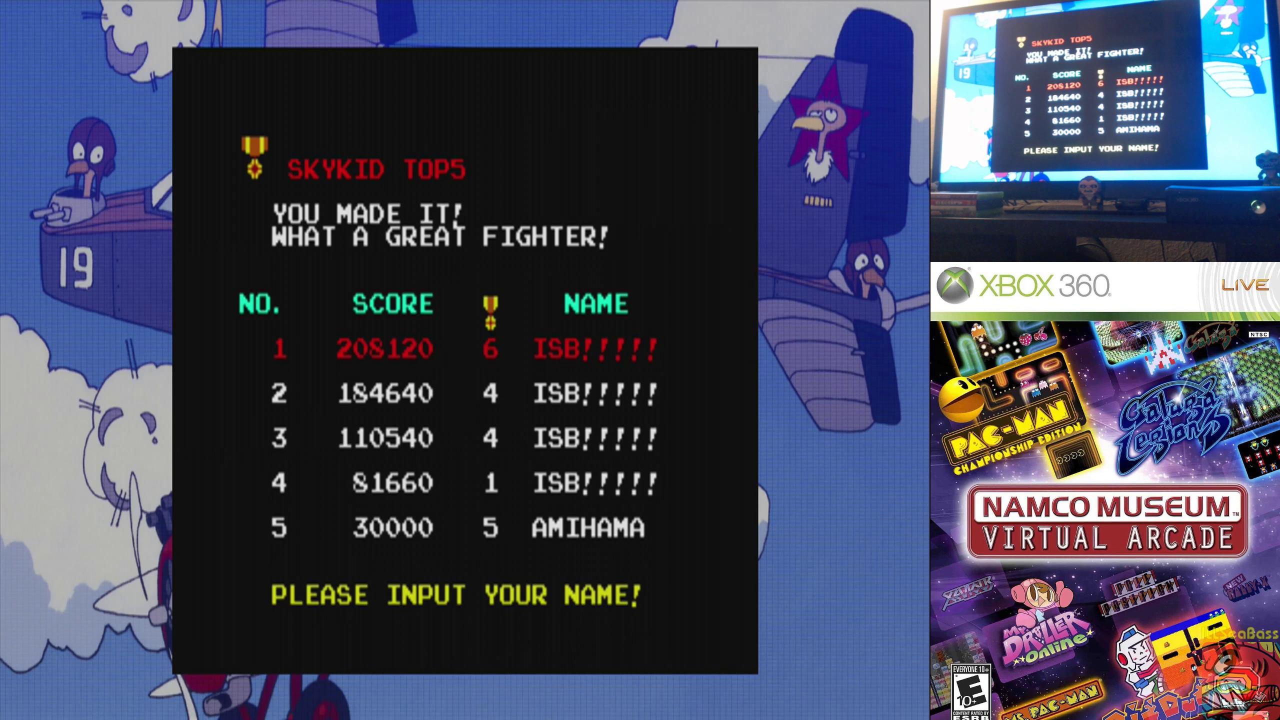 ILLSeaBass: Namco Muesum Virtual Arcade: Sky Kid (Xbox 360) 208,120 points on 2019-10-10 12:45:42