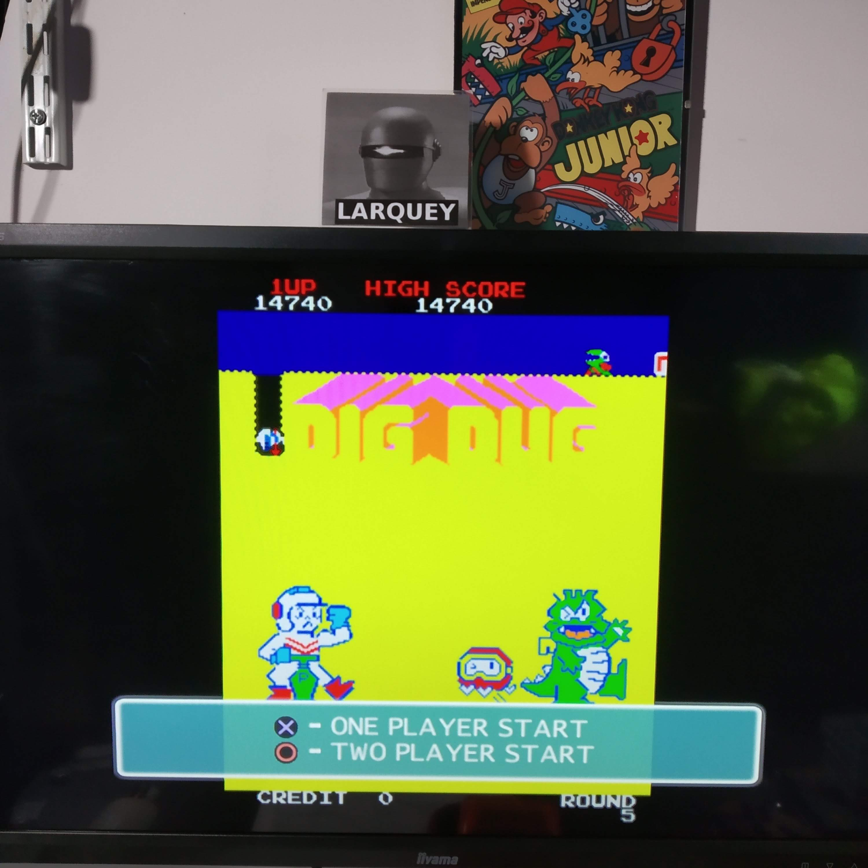 Larquey: Namco Museum 50th Anniversary: Dig Dug (Playstation 2 Emulated) 14,740 points on 2020-08-13 14:10:38