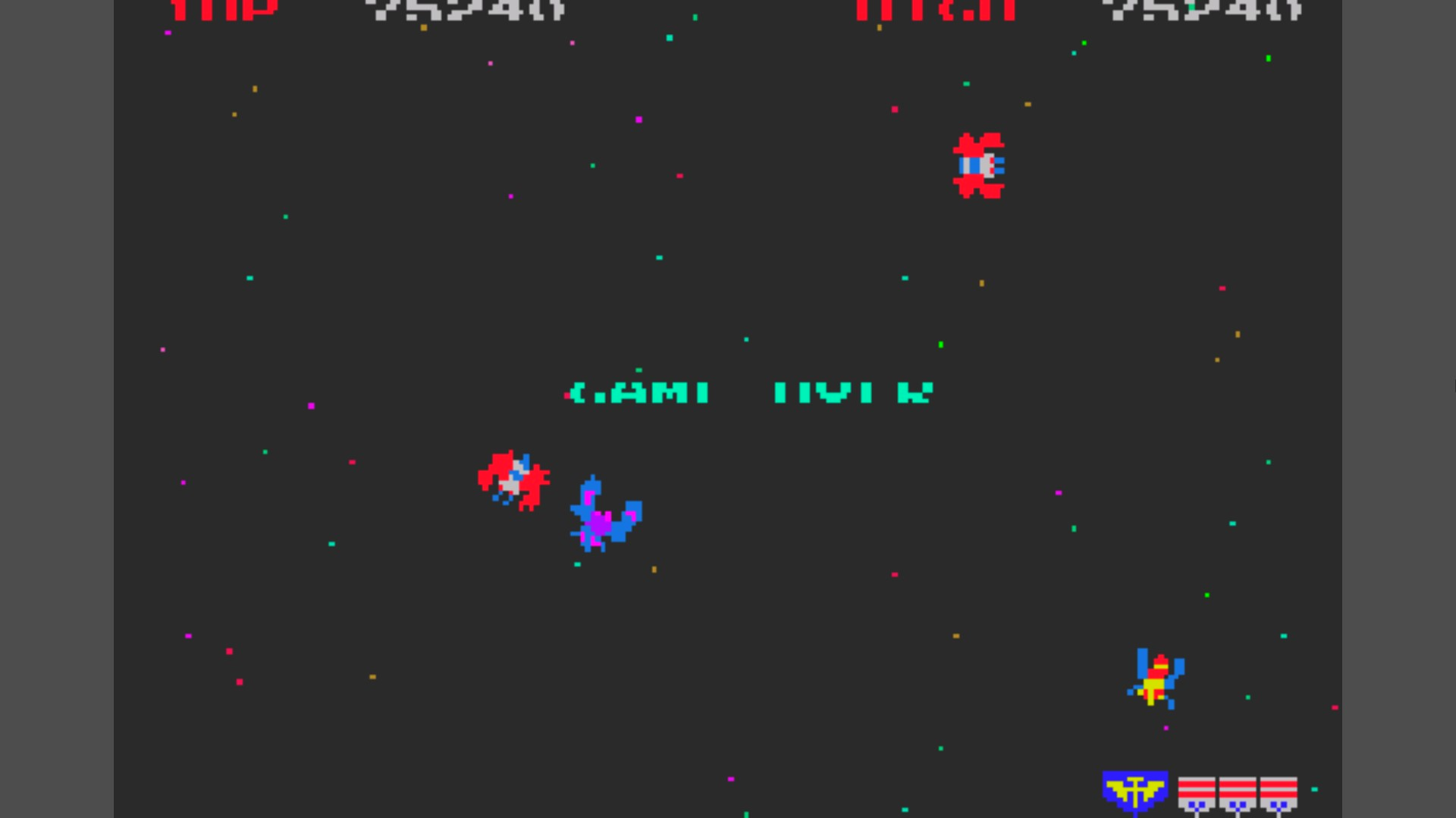 Namco Museum 50th Anniversary: Galaga 75,240 points