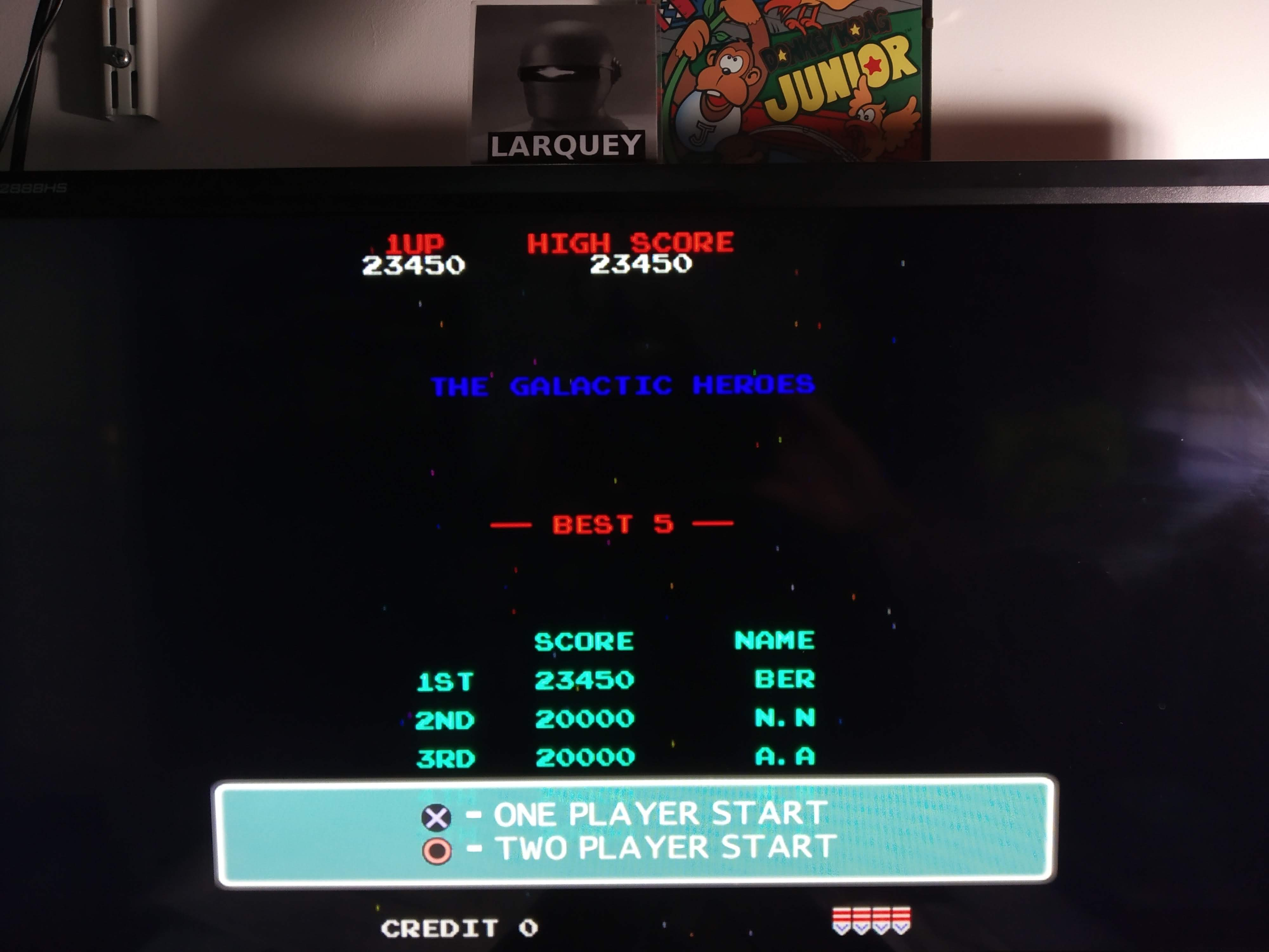 Larquey: Namco Museum 50th Anniversary: Galaga (Playstation 2 Emulated) 23,450 points on 2020-08-05 12:55:03