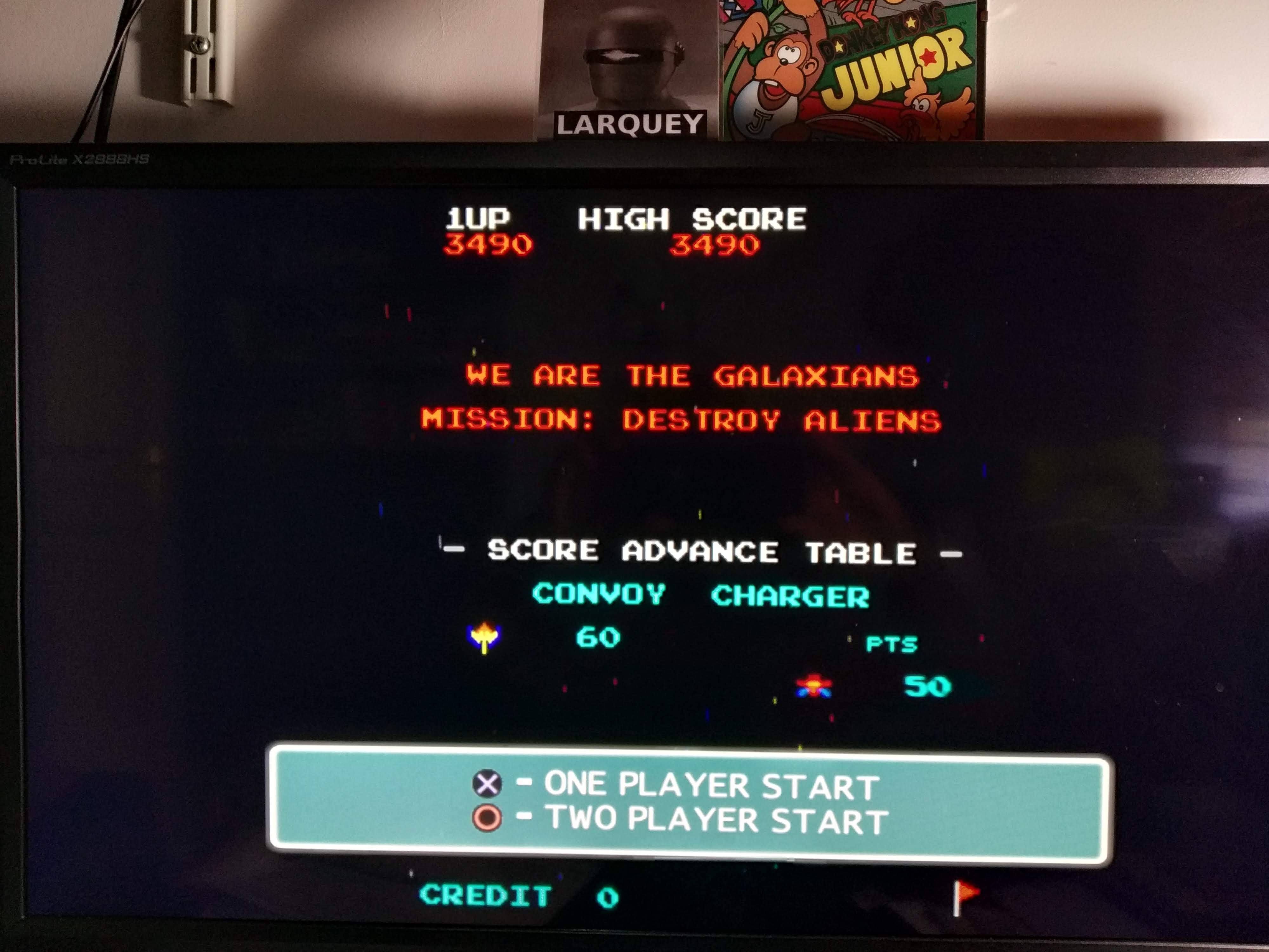 Larquey: Namco Museum 50th Anniversary: Galaxian (Playstation 2 Emulated) 3,490 points on 2020-08-05 12:59:05