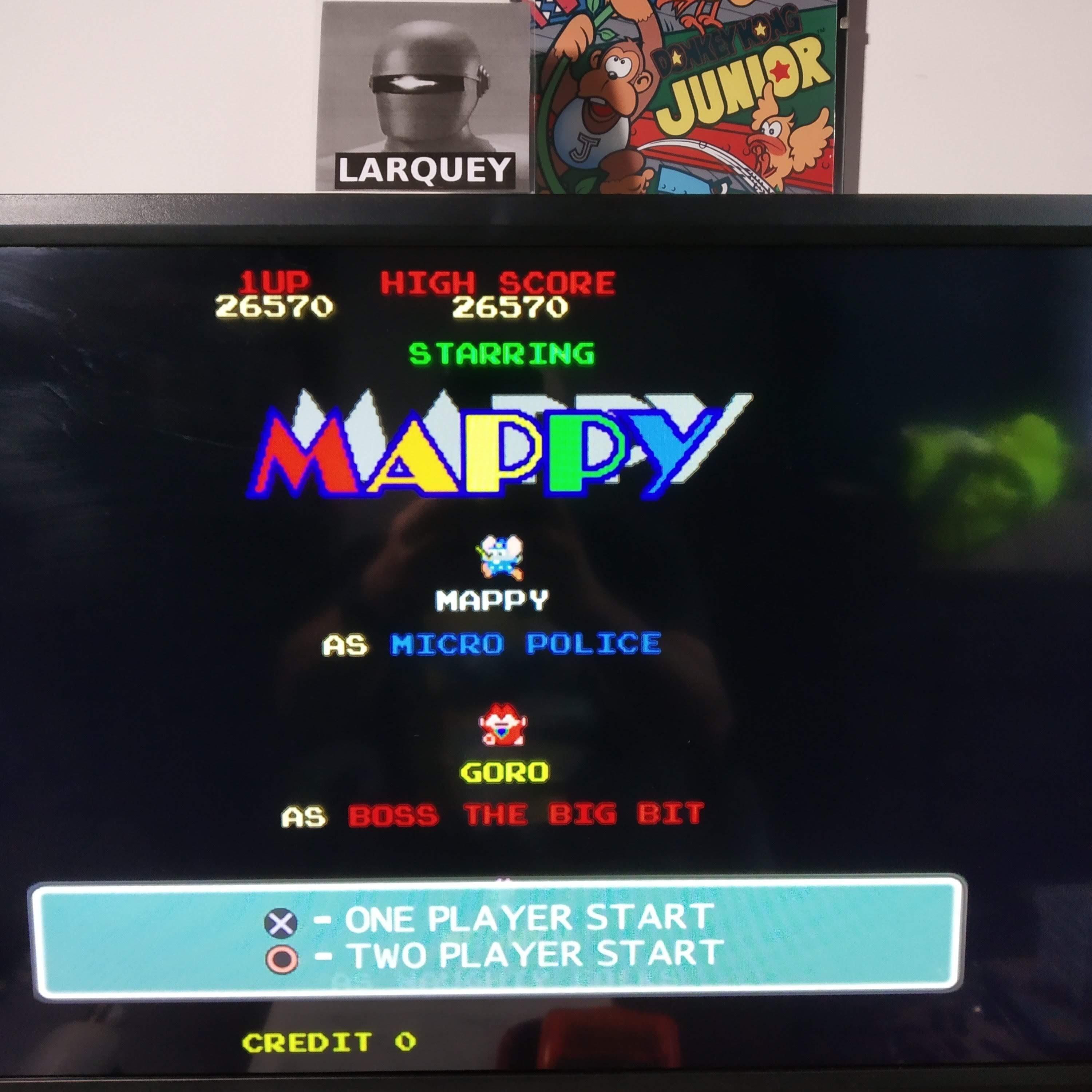Larquey: Namco Museum 50th Anniversary: Mappy (Playstation 2 Emulated) 26,570 points on 2020-08-13 14:04:32