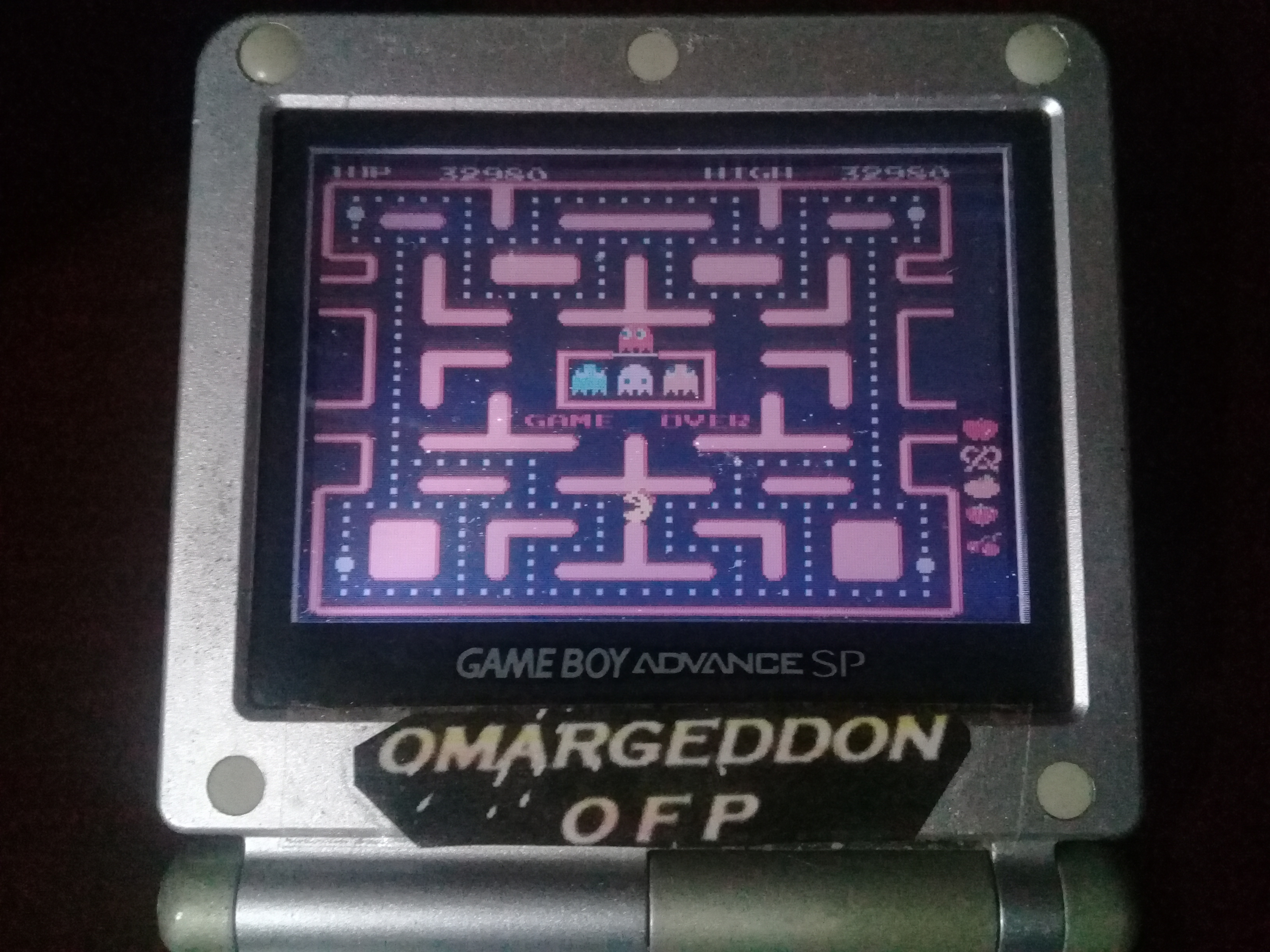 omargeddon: Namco Museum 50th Anniversary: Ms. Pac-Man (GBA) 32,980 points on 2019-10-20 00:39:13