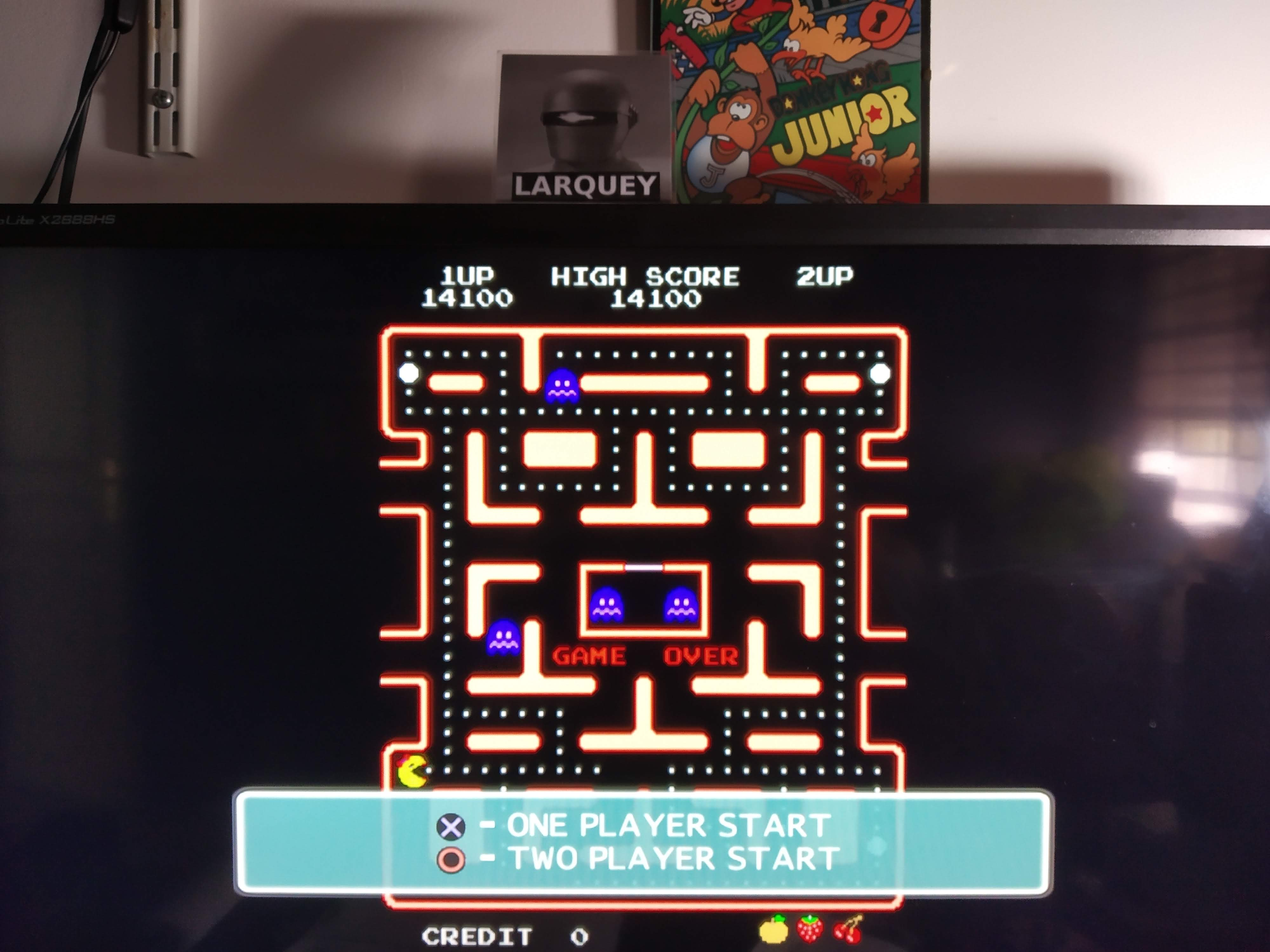 Larquey: Namco Museum 50th Anniversary: Ms. Pac-Man (Playstation 2 Emulated) 14,100 points on 2020-08-06 13:05:50