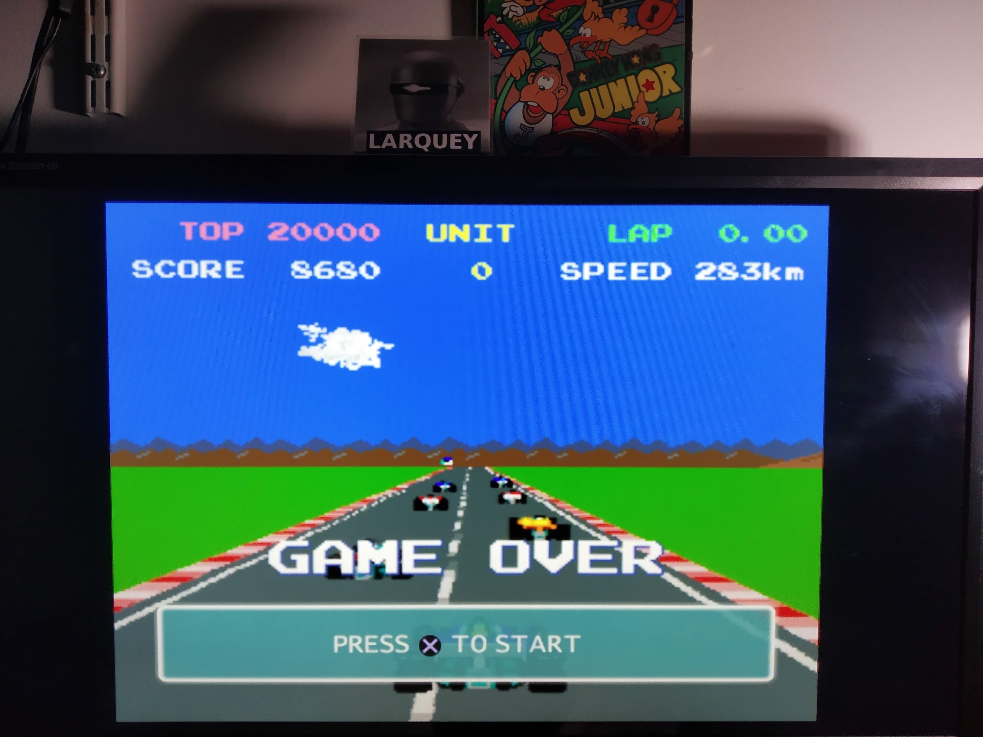Larquey: Namco Museum 50th Anniversary: Pole Position II [Seaside Track] (Playstation 2 Emulated) 8,680 points on 2020-08-06 15:08:33