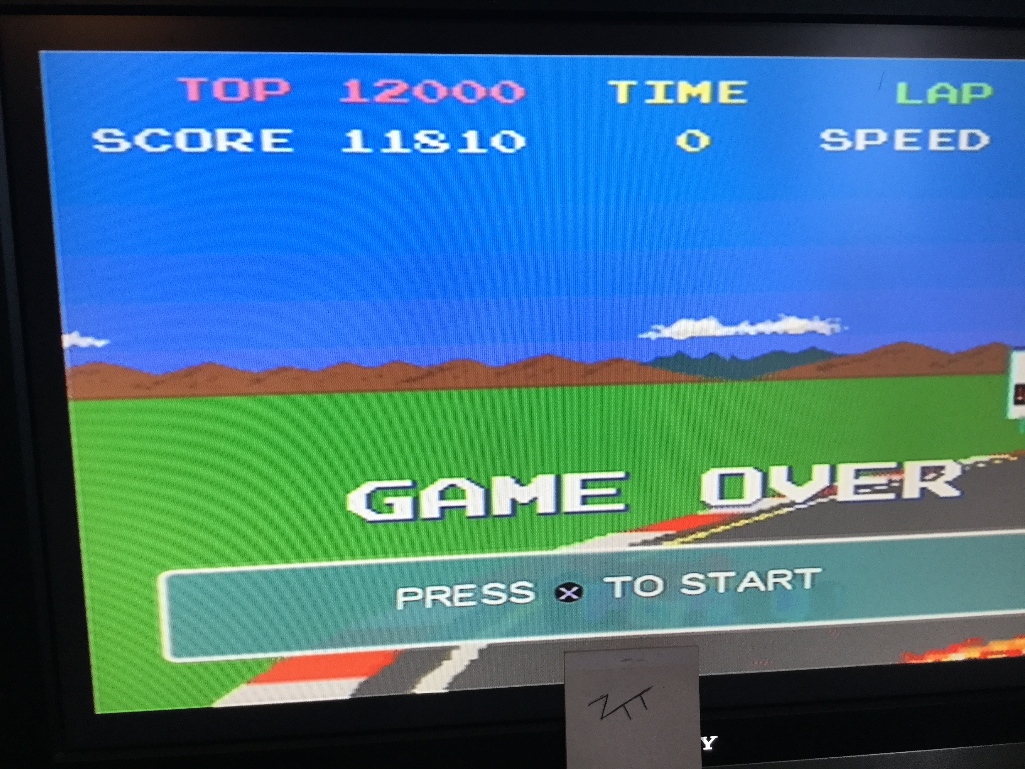 Namco Museum 50th Anniversary: Pole Position 11,810 points