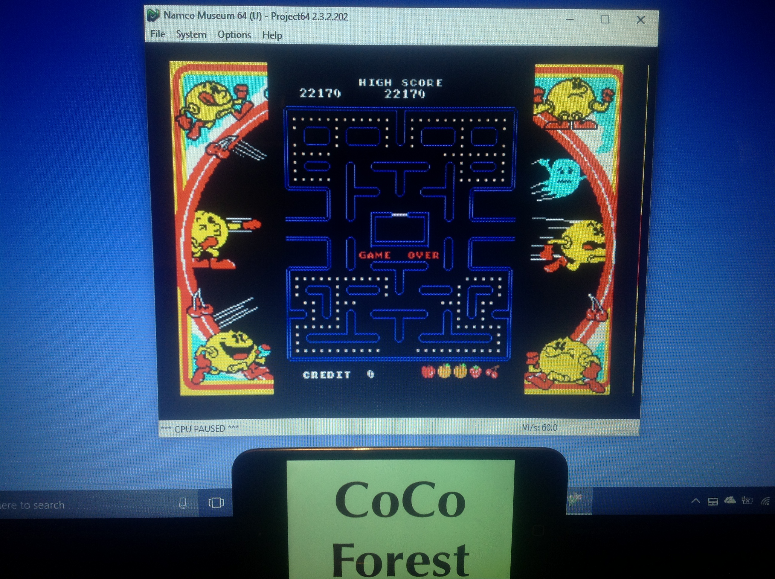 CoCoForest: Namco Museum 64: Pac-Man (N64 Emulated) 22,170 points on 2018-01-29 11:40:27