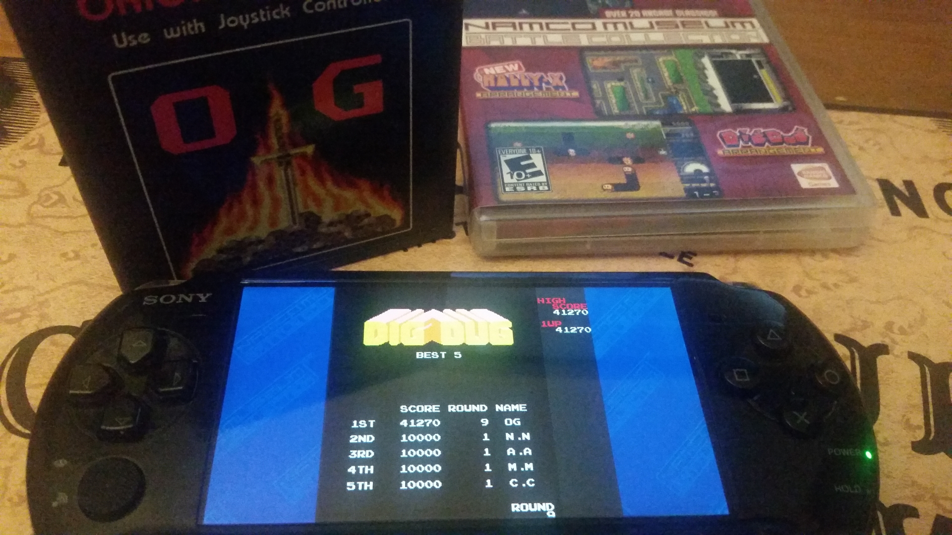 OriginalGamer: Namco Museum: Battle Collection: Dig Dug (PSP) 41,270 points on 2018-02-03 23:34:08