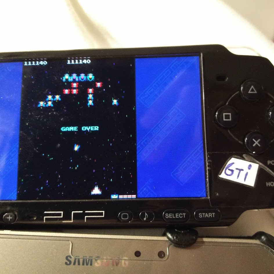GTibel: Namco Museum: Battle Collection: Galaga (PSP) 111,140 points on 2019-07-15 01:02:55