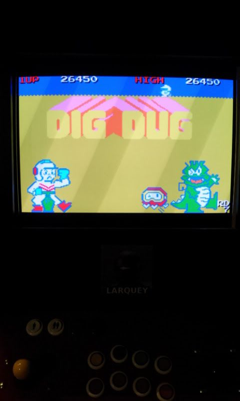 Larquey: Namco Museum: Dig Dug (GBA Emulated) 26,450 points on 2017-11-03 04:45:02