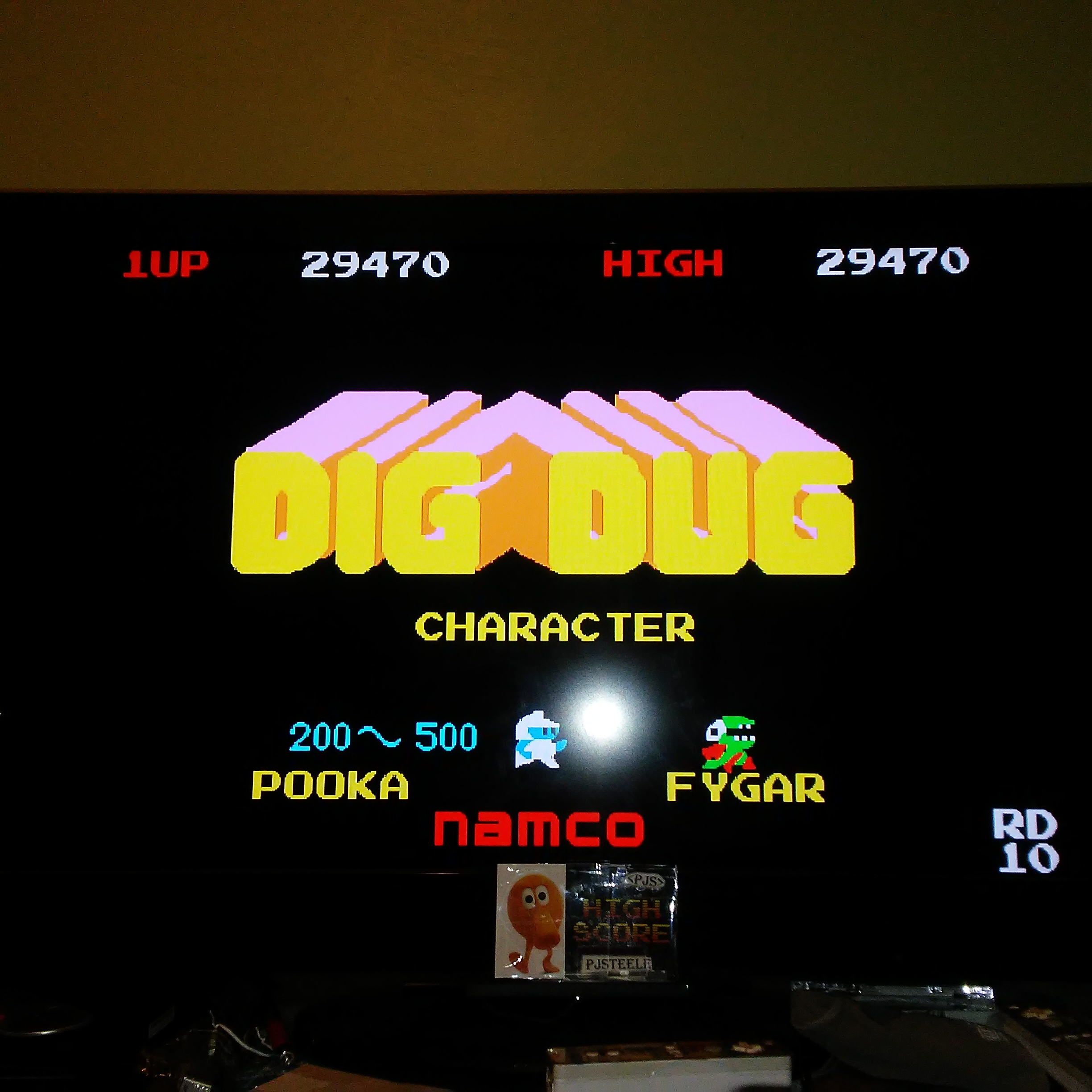 Pjsteele: Namco Museum: Dig Dug (GBA Emulated) 29,470 points on 2017-12-04 21:19:02