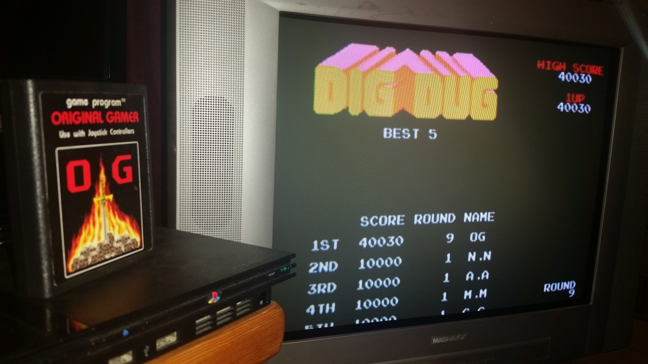 OriginalGamer: Namco Museum: Dig Dug (Playstation 2) 40,030 points on 2016-06-26 20:23:31