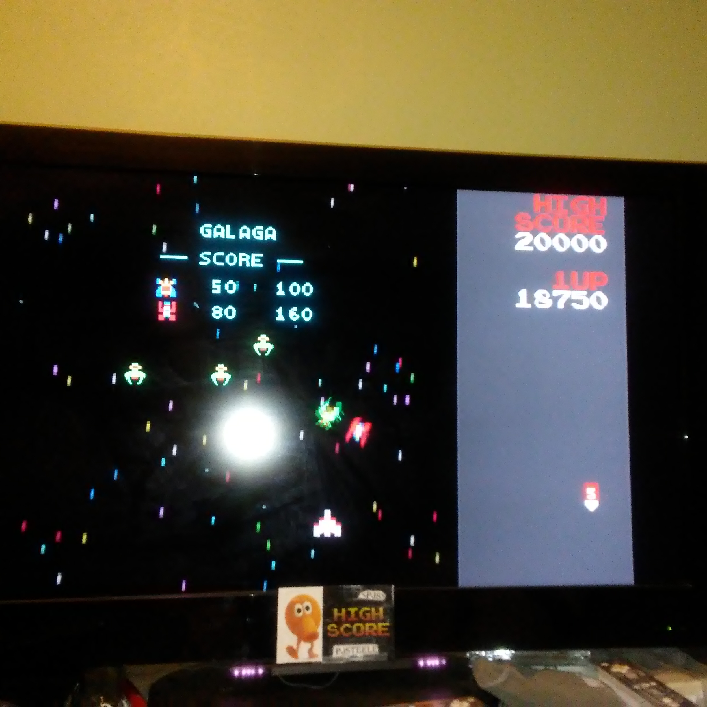 Pjsteele: Namco Museum: Galaga (GBA Emulated) 18,750 points on 2017-12-03 21:29:06