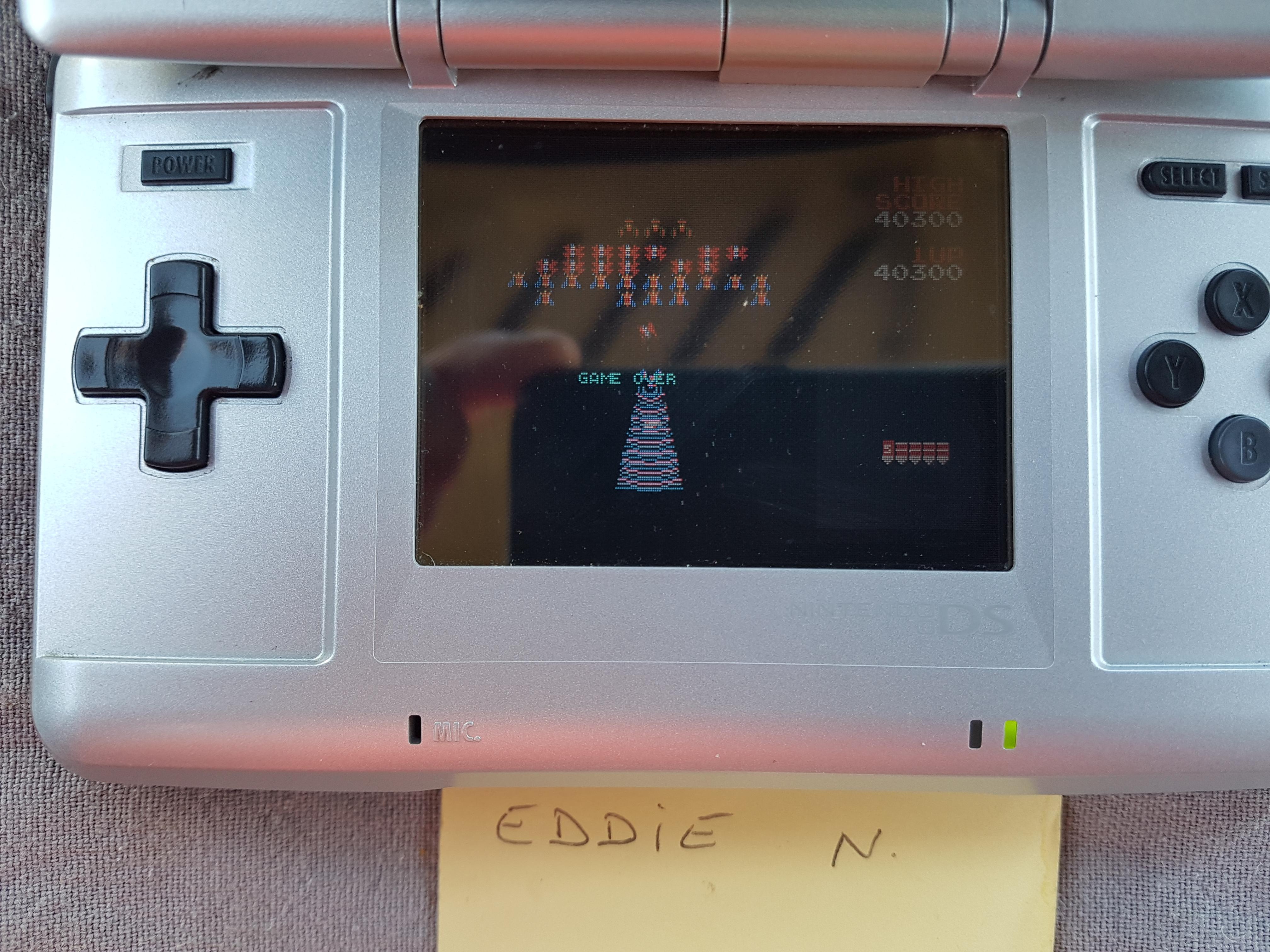 EddieNiceguy: Namco Museum: Galaga (GBA) 40,300 points on 2018-02-02 05:53:16