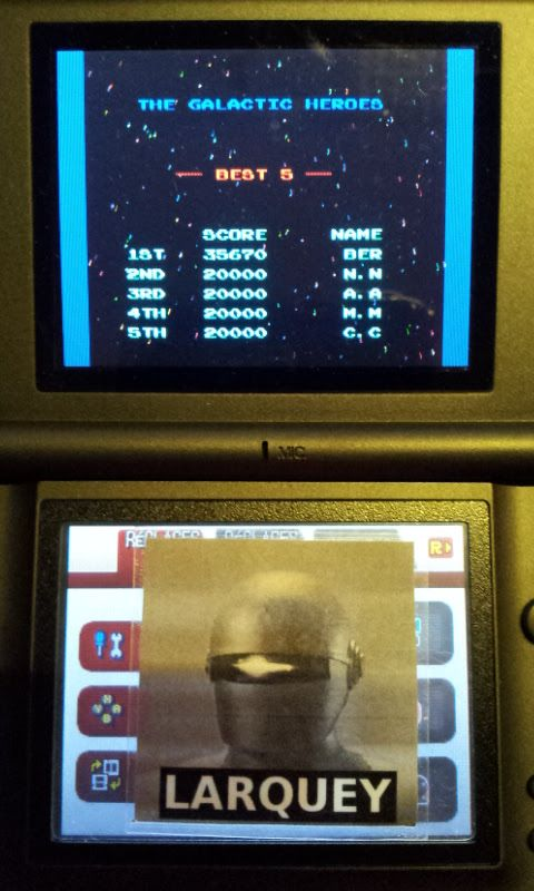 Larquey: Namco Museum: Galaga (Nintendo DS) 35,670 points on 2017-08-13 16:01:07