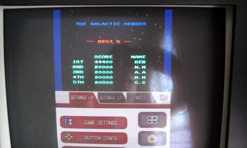 Larquey: Namco Museum: Galaga (Nintendo DS Emulated) 44,400 points on 2018-08-15 05:37:50