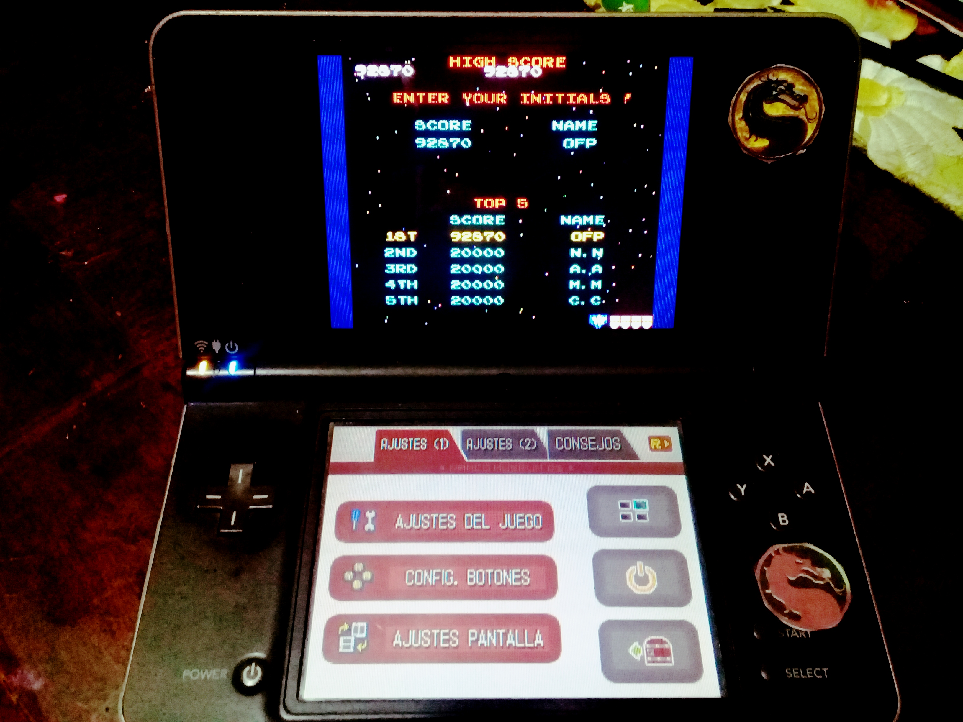 omargeddon: Namco Museum: Galaga (Nintendo DS) 92,870 points on 2020-08-12 17:37:21