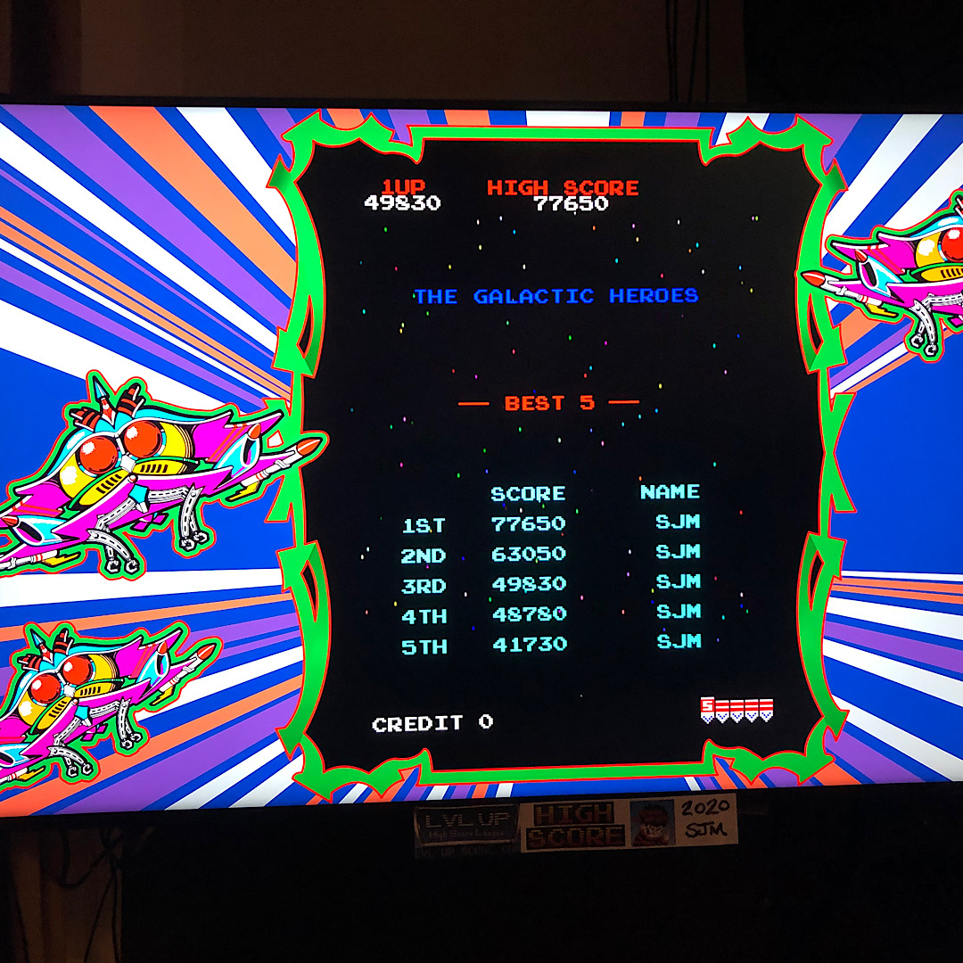 DtM2000: Namco Museum: Galaga [Normal] (Nintendo Switch) 77,650 points on 2021-02-08 12:23:01