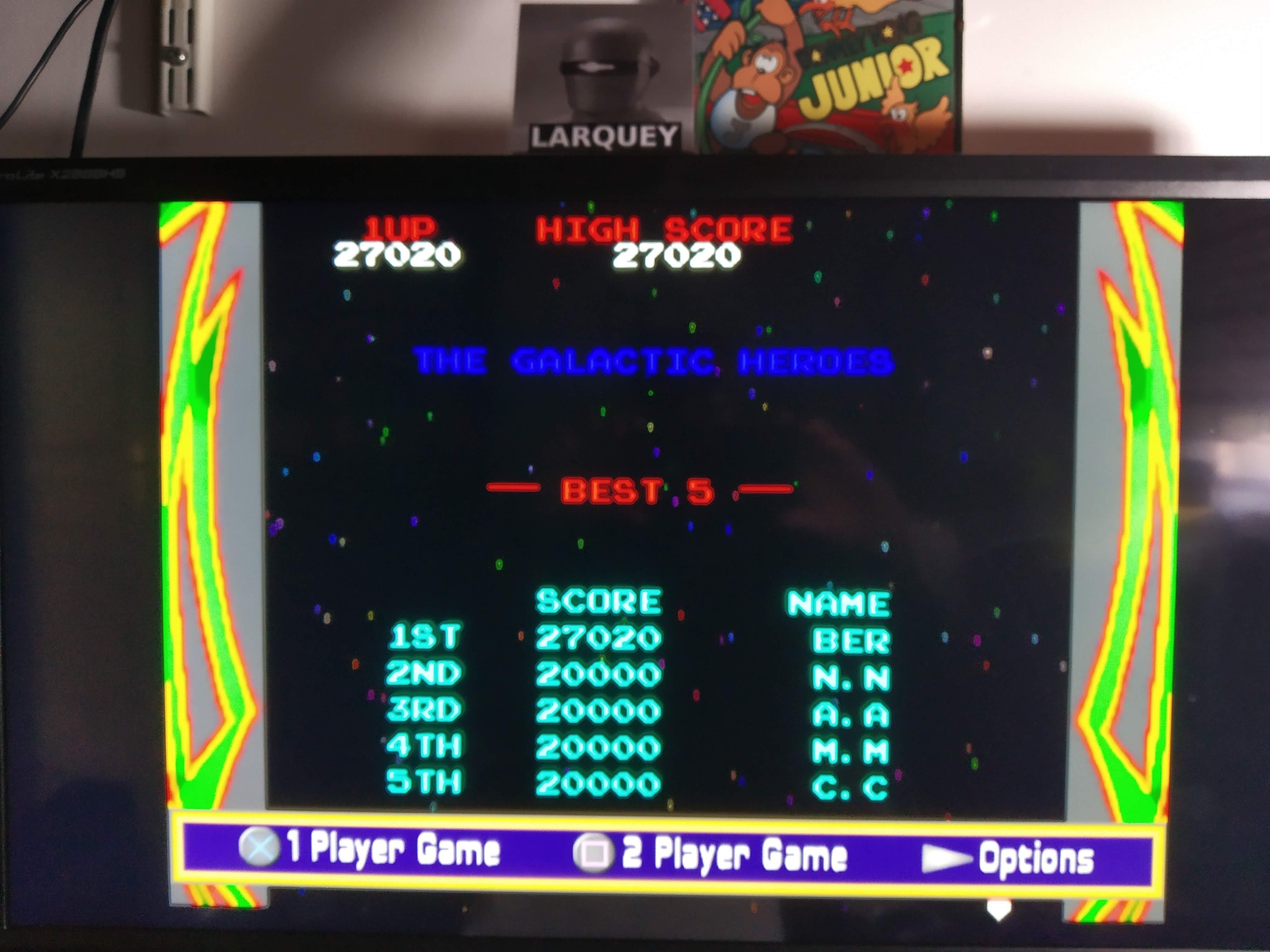 Larquey: Namco Museum: Galaga (Playstation 2 Emulated) 27,020 points on 2020-08-07 13:04:00