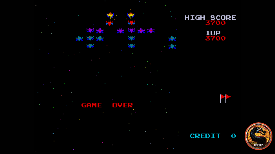 omargeddon: Namco Museum: Galaxian (Dreamcast Emulated) 3,700 points on 2019-10-18 23:25:10